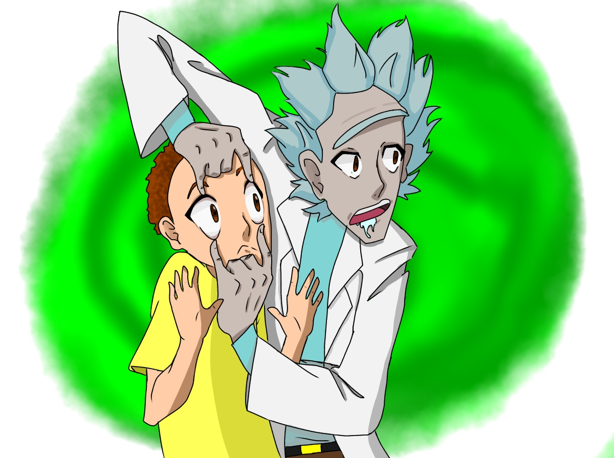 Rick and Morty Anime Style