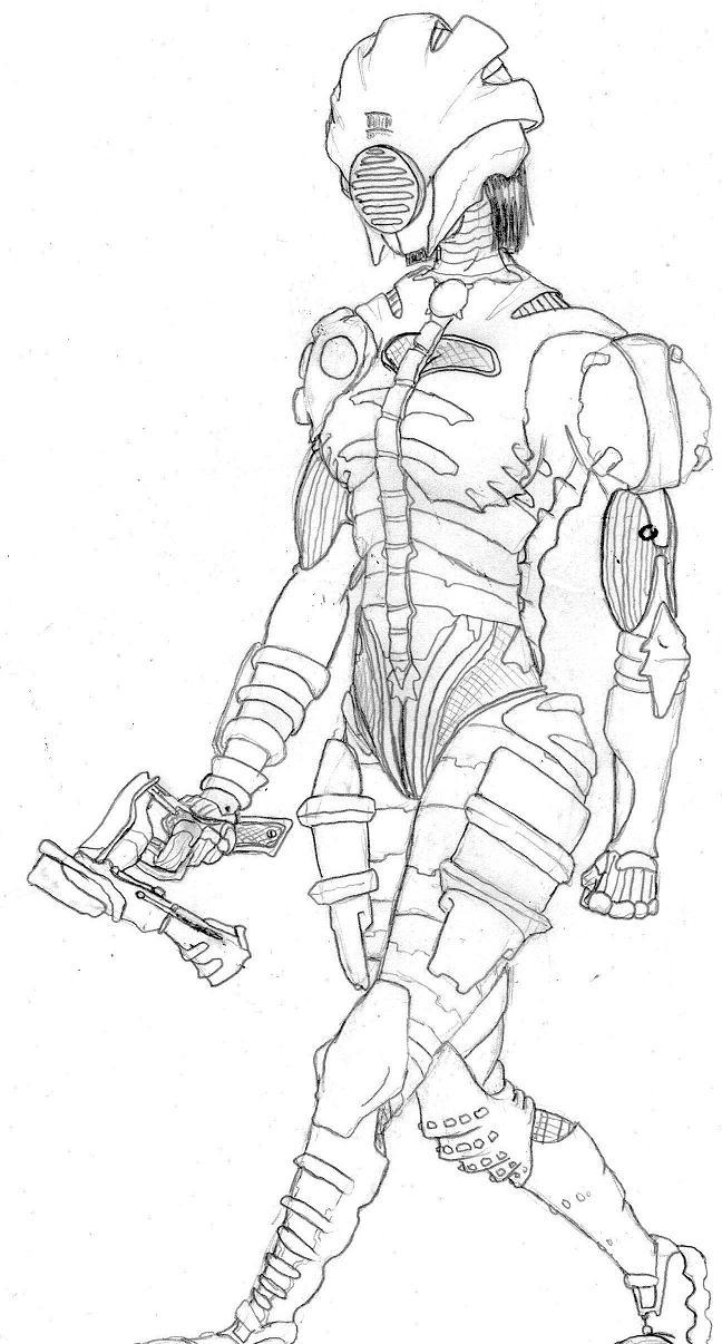 DEAD SPACE(tm) Female Soldier