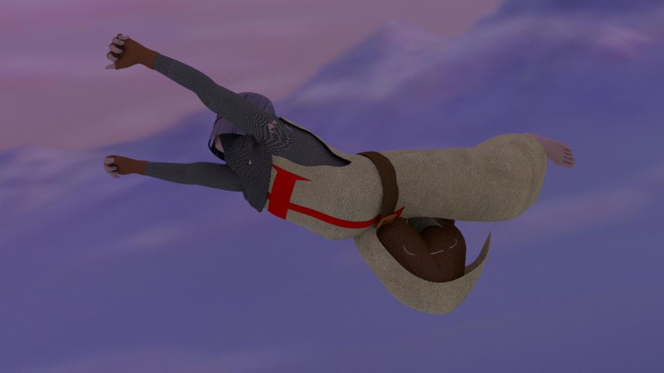 flying Templar render