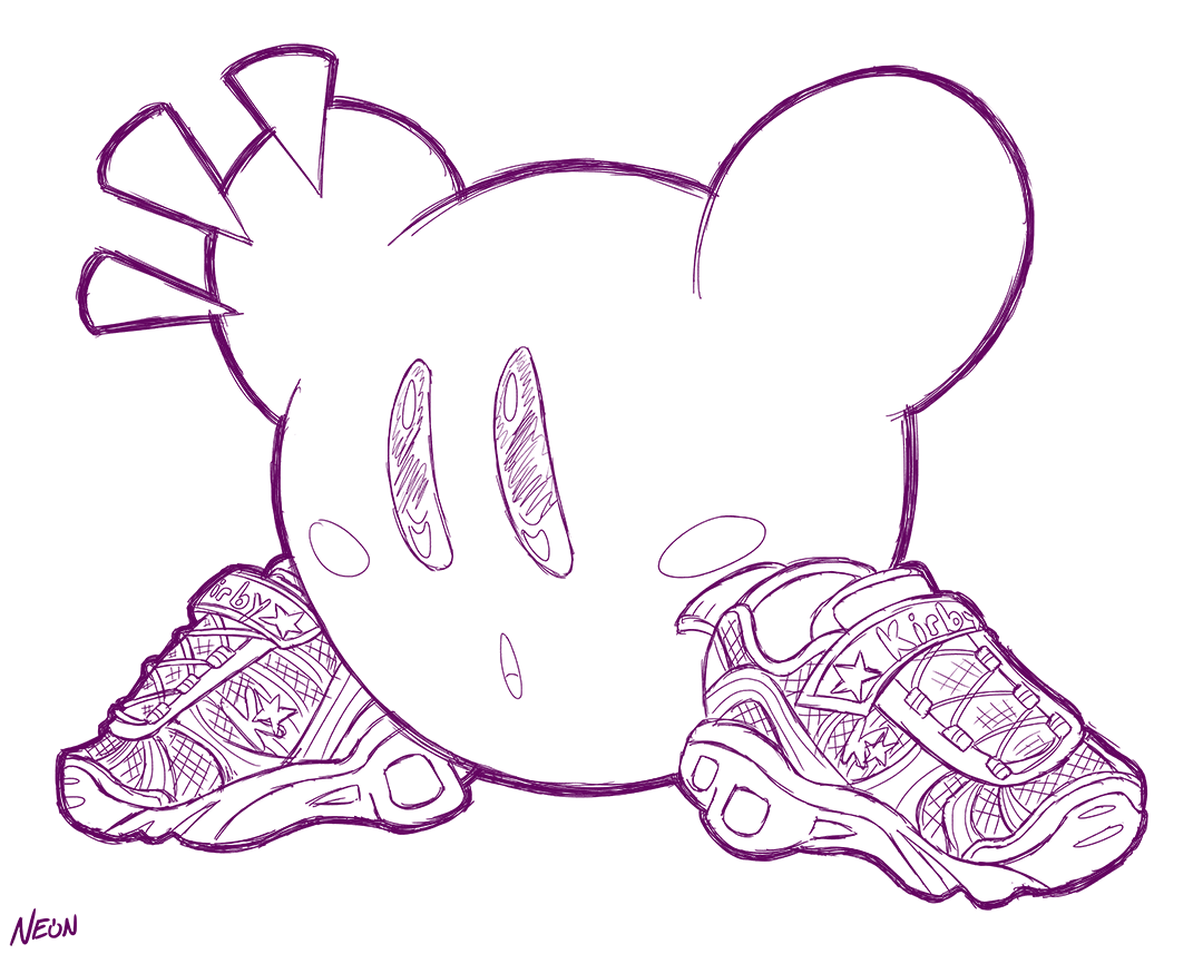 """""""Why can't Kirby have light up sketchers"""""""
