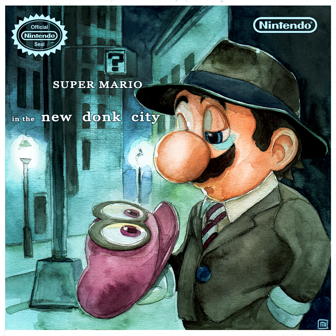 Mario Odyssey in the New Donk City