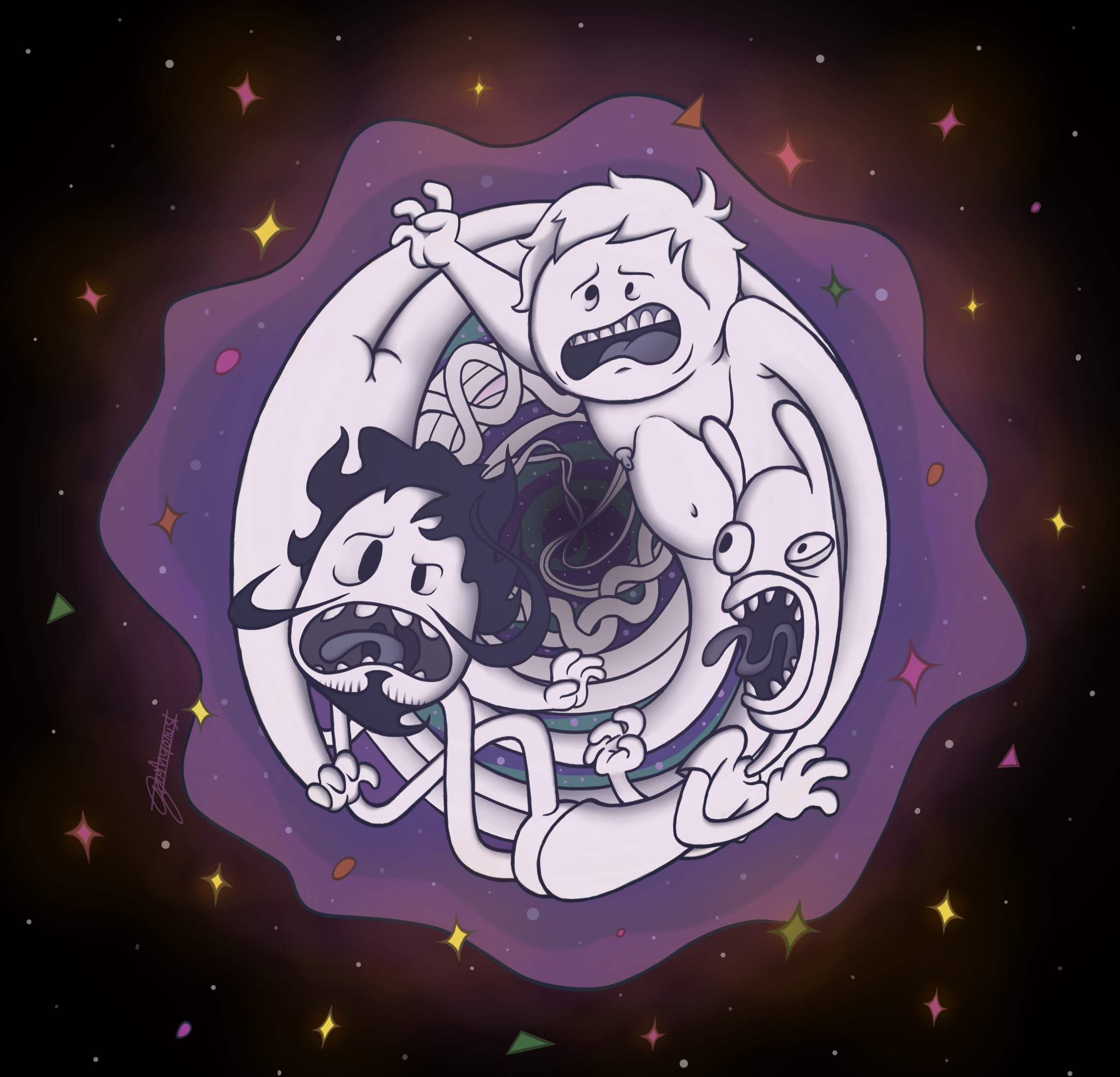Funny Screaming in Space