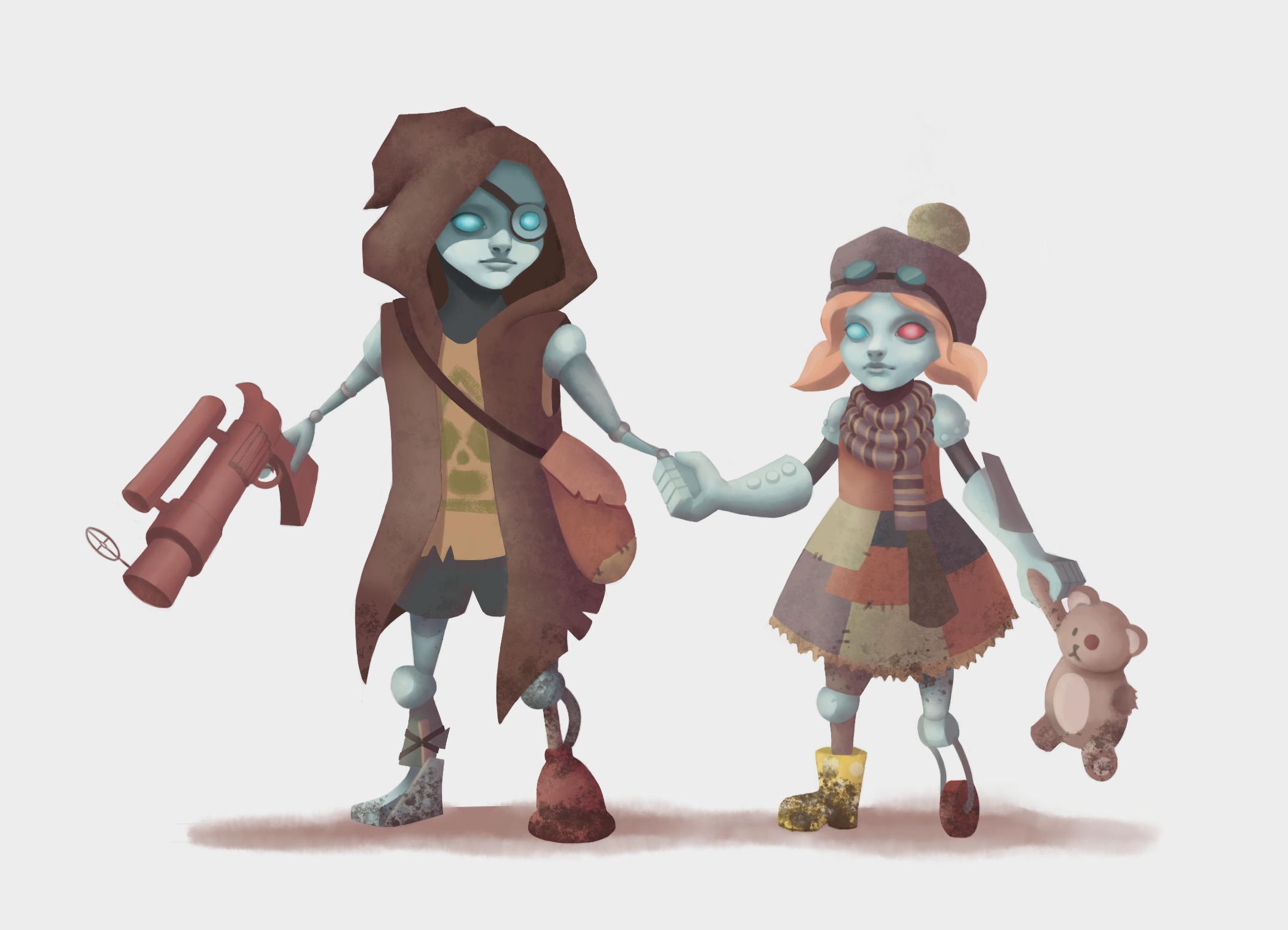 Post Apocalyptic Robot children