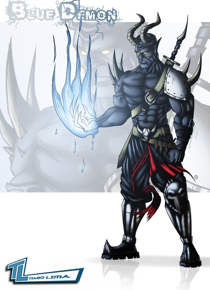 The Blue Demon Warrior