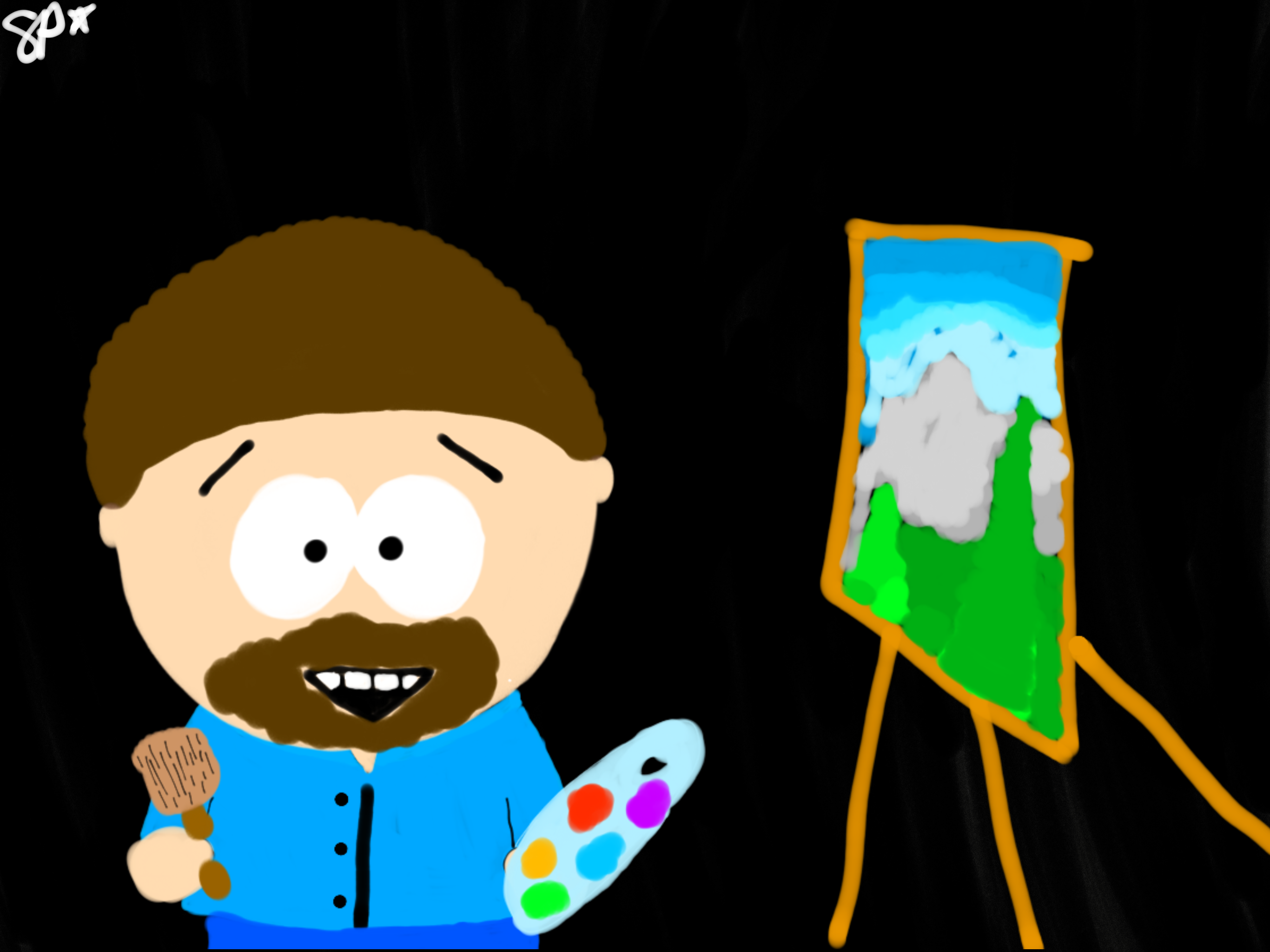 Bob Ross (South Park Art Style)