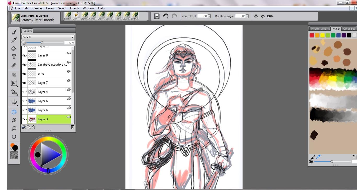 Wonder Woman - Process