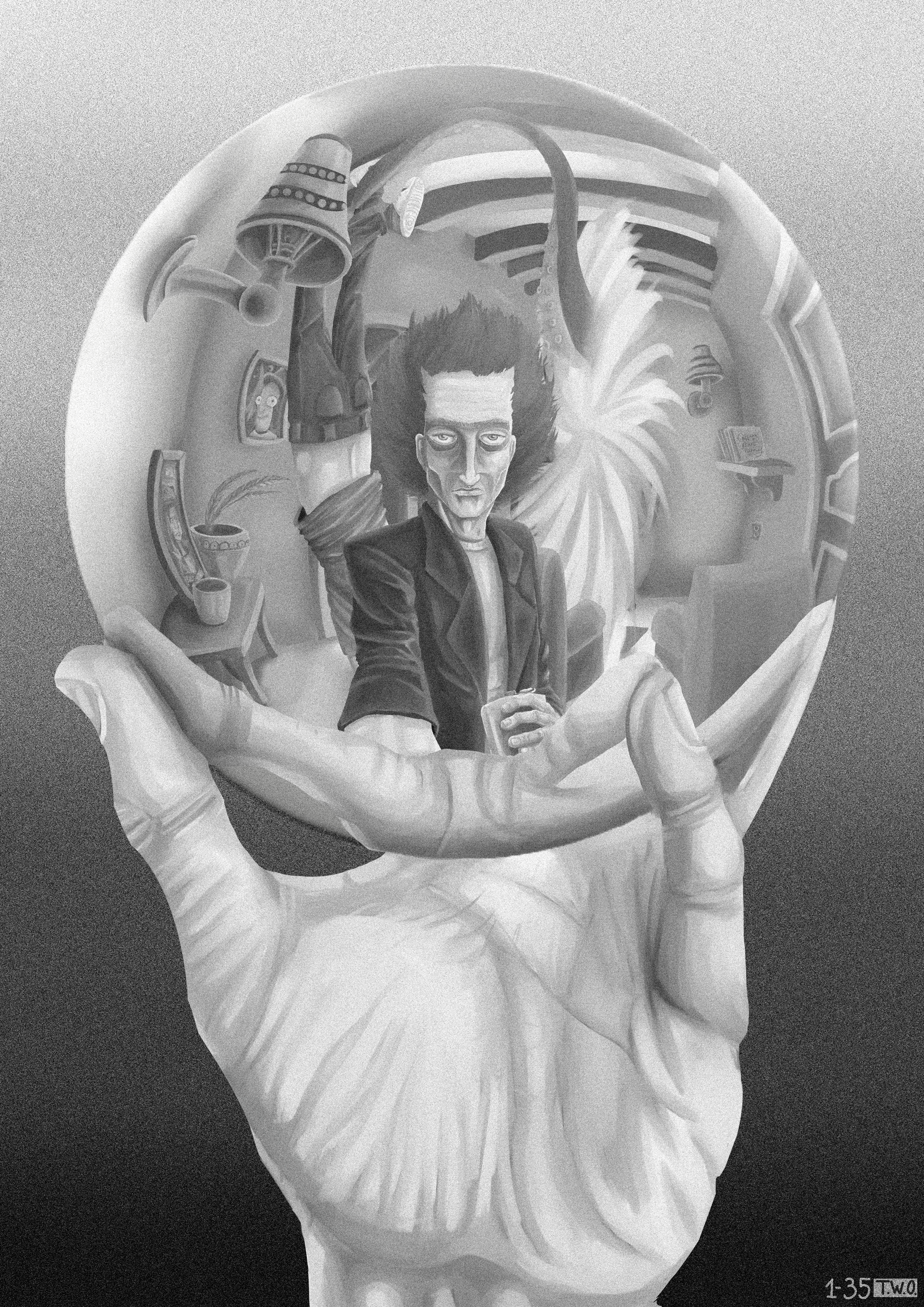 Rick's Hand with Reflecting Sphere
