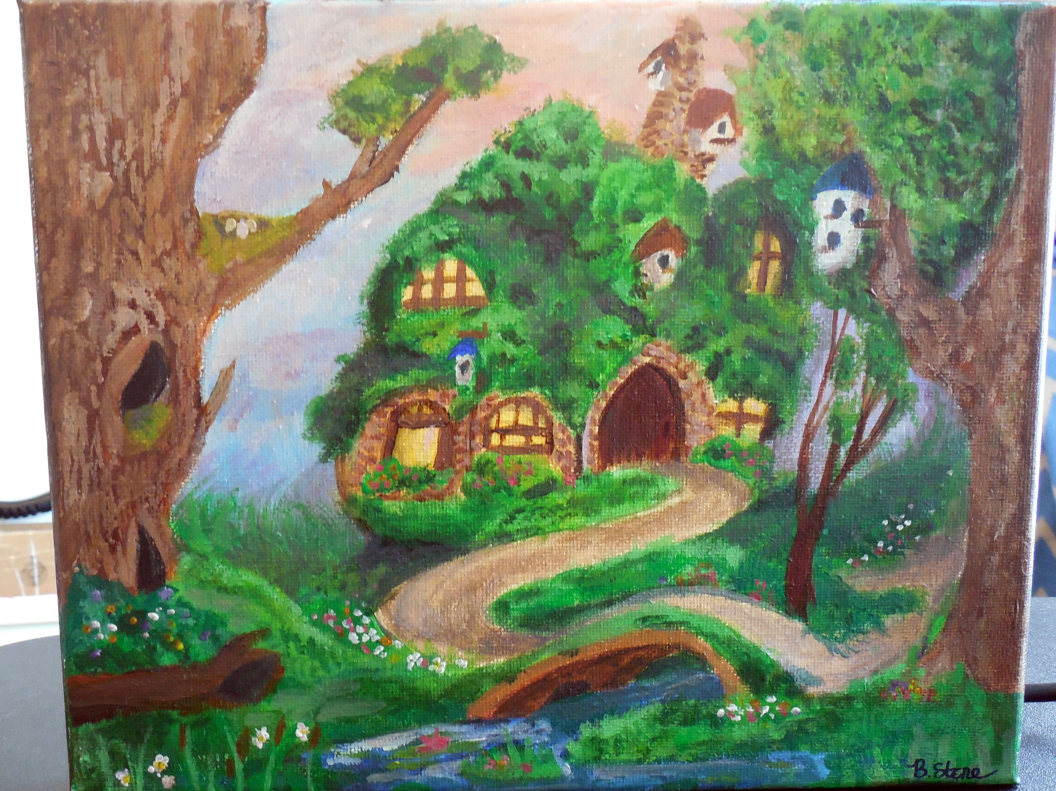 Fluttershy's Cottage In the Style of Thomas Kinkade