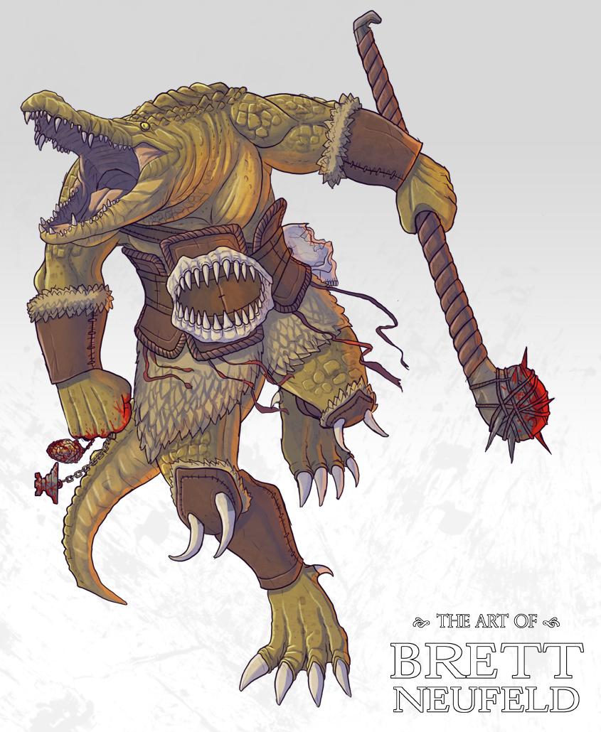 Crocodile Barbarian