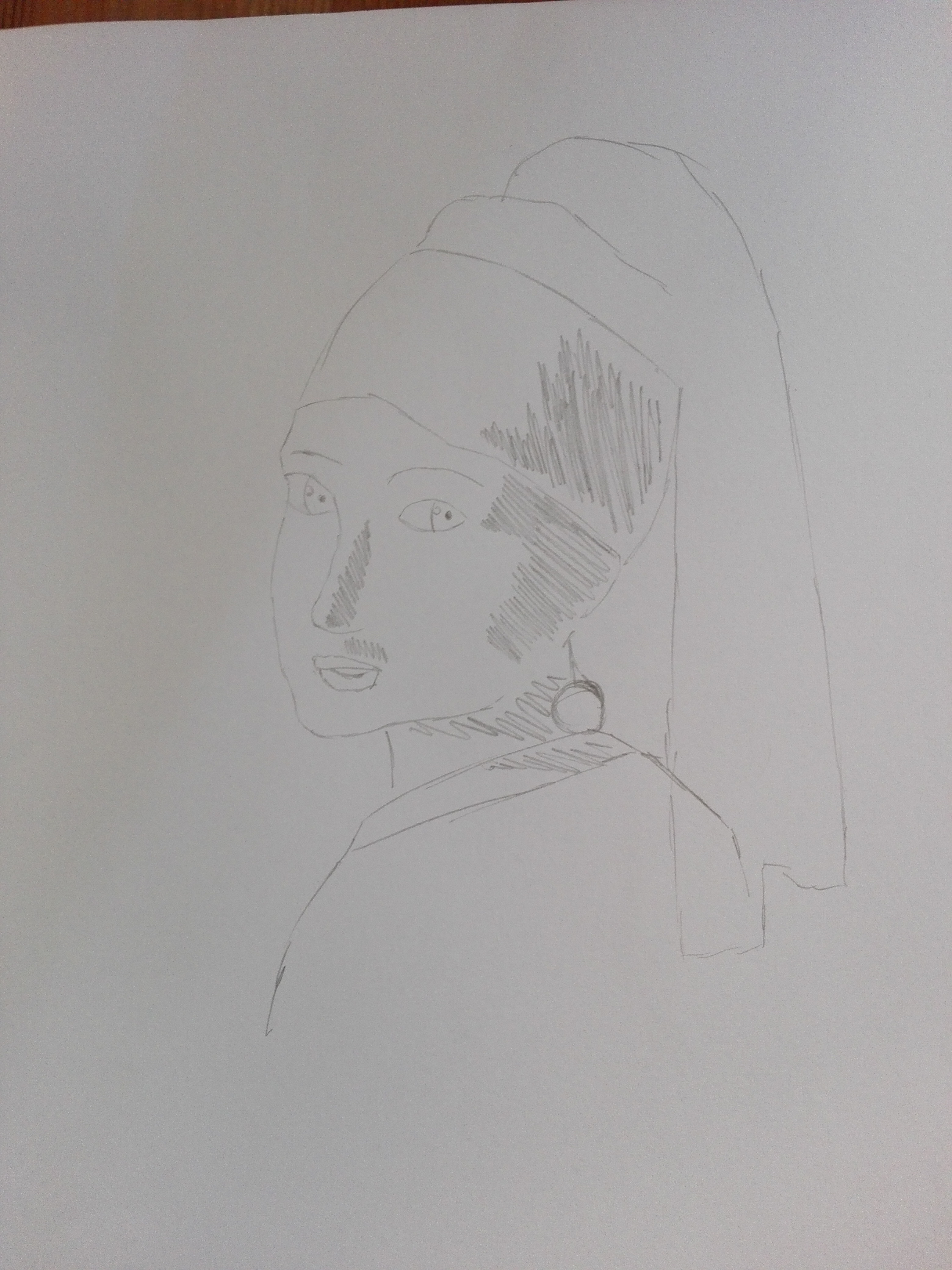 girl with a pearl earring WORK IN PROGRESS