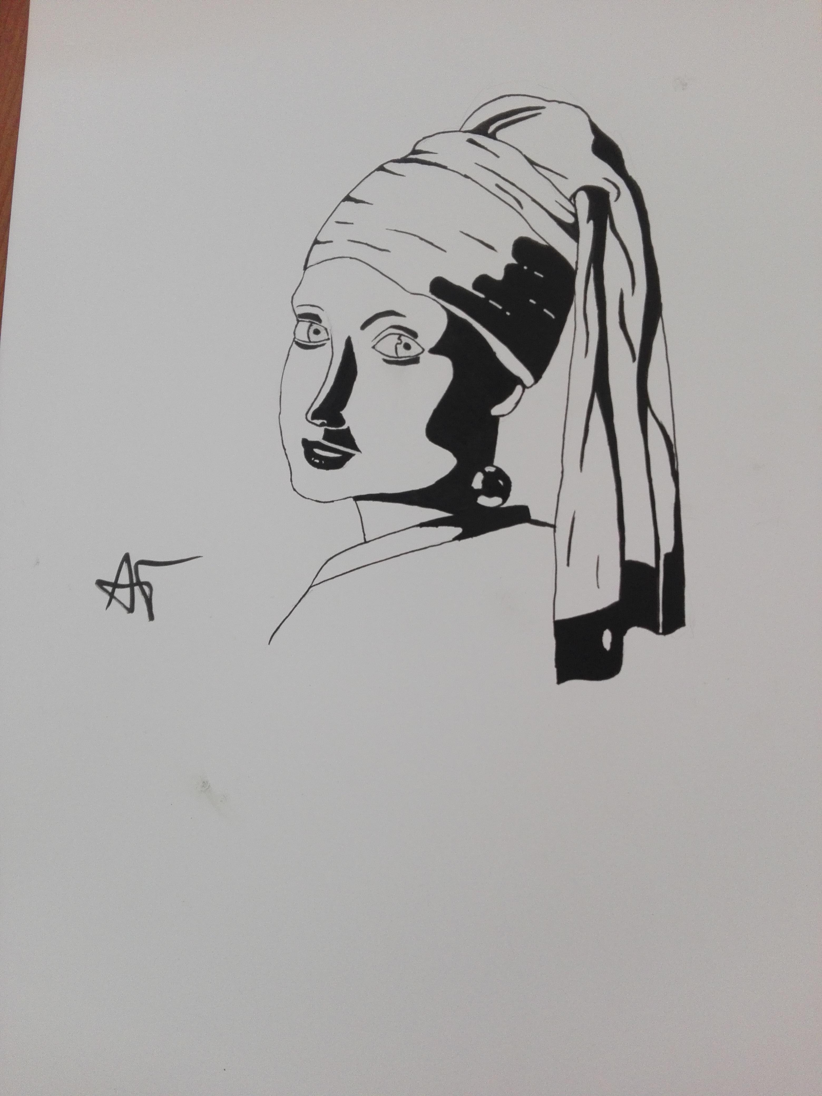girl with a pearl earring WORK IN PROGRESs