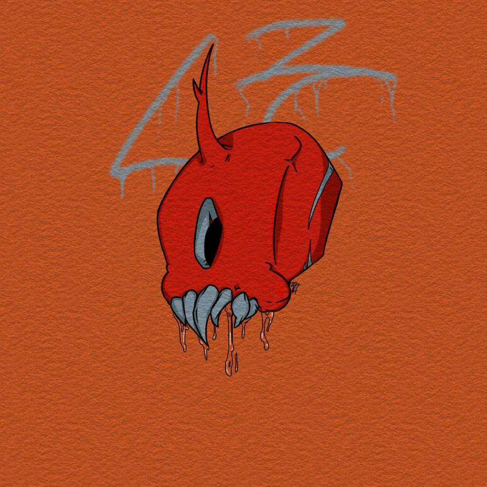 Graphic Alien Skull