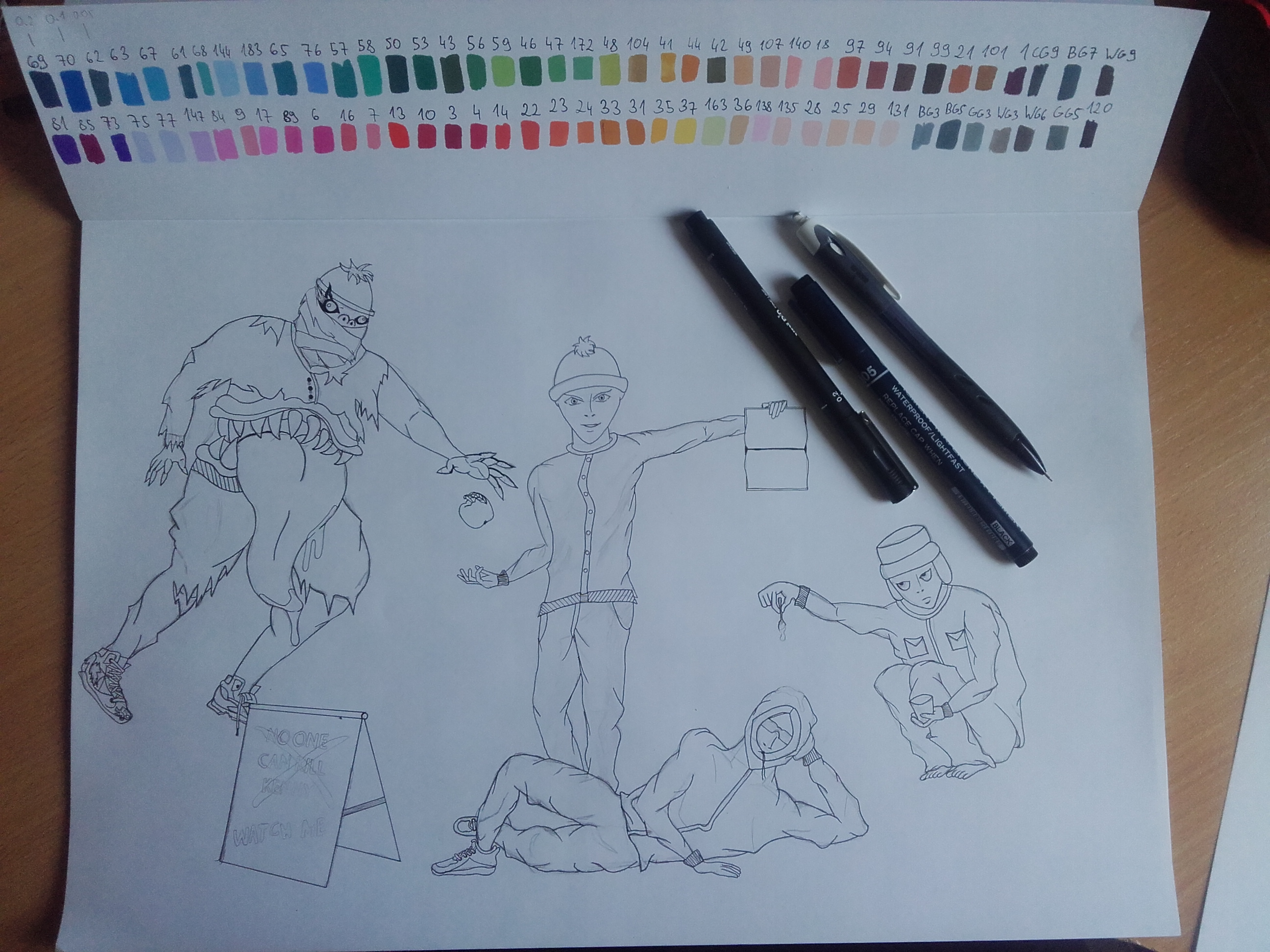 WIP - South Park swapped to Death Note style