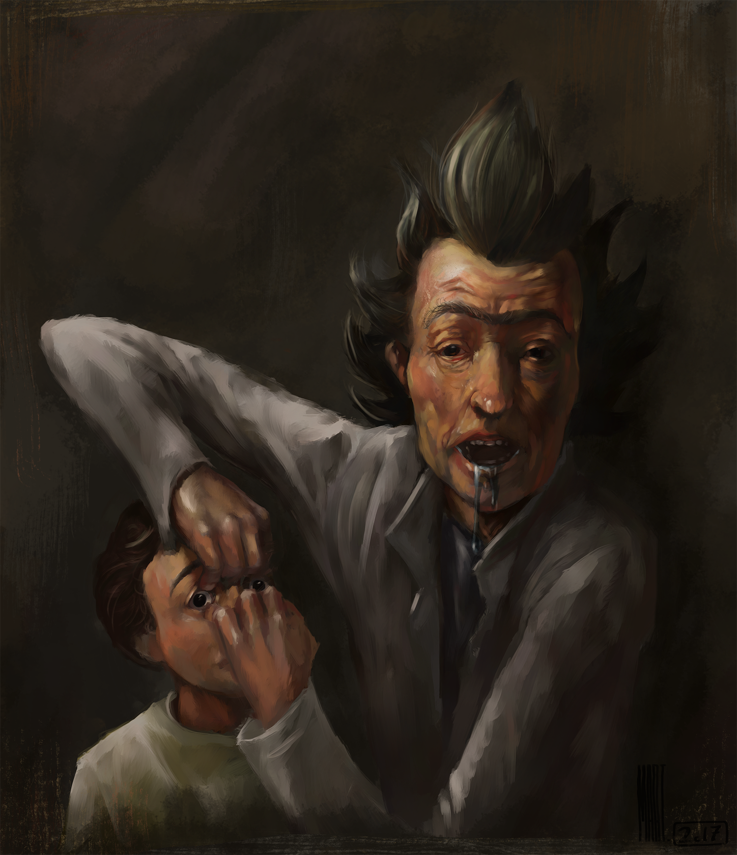 Rick and Morty : Rembrandt Style | Those are mega trees !