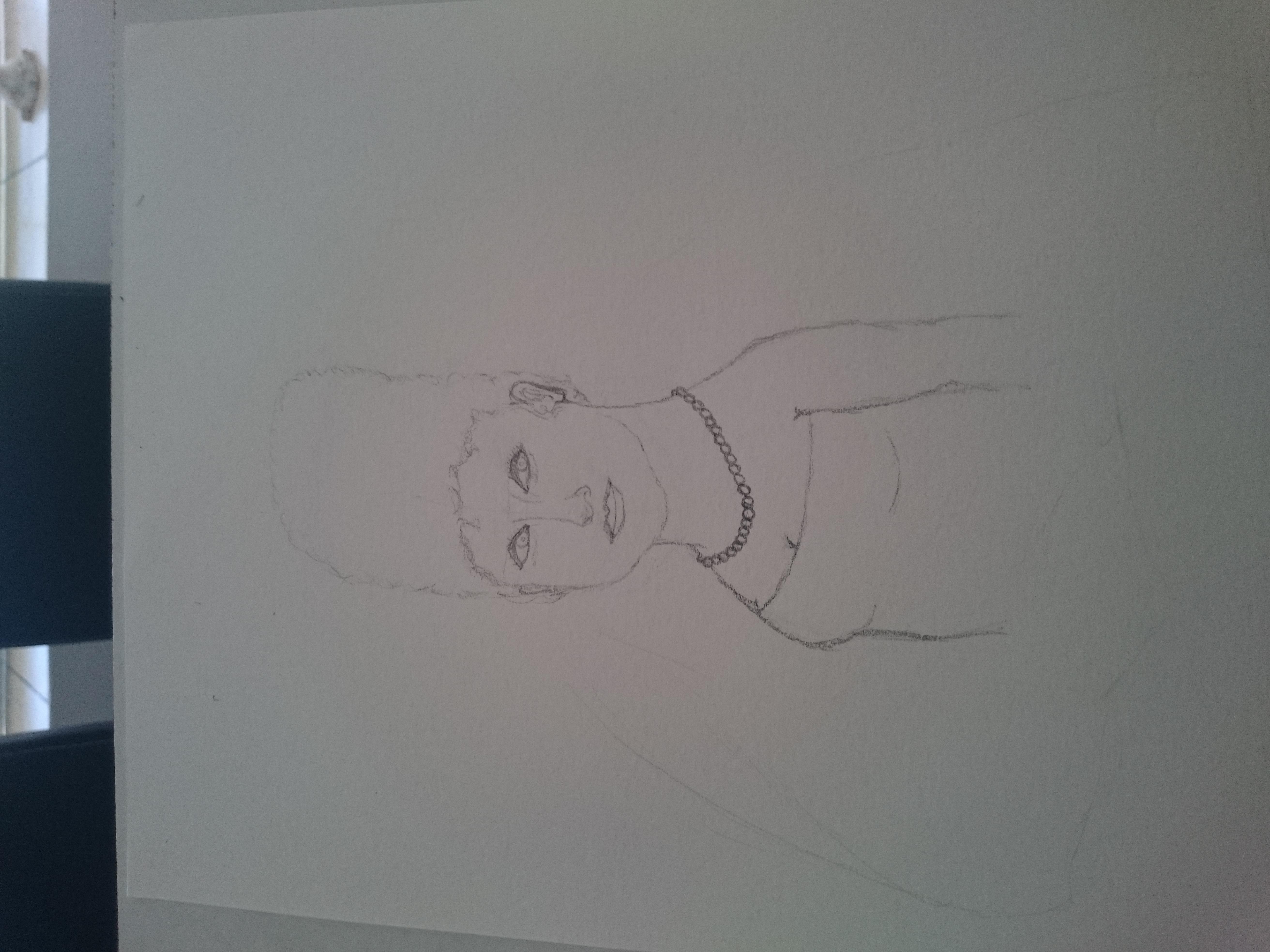 Marge Simpson X Mona Lisa (sketch)