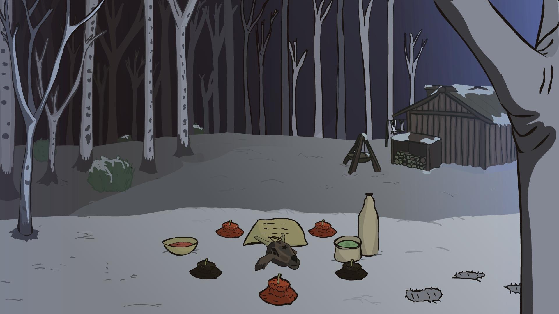 horror forest back