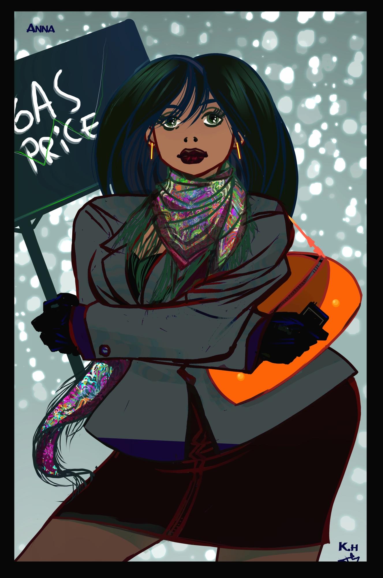 Color Anna protester 3