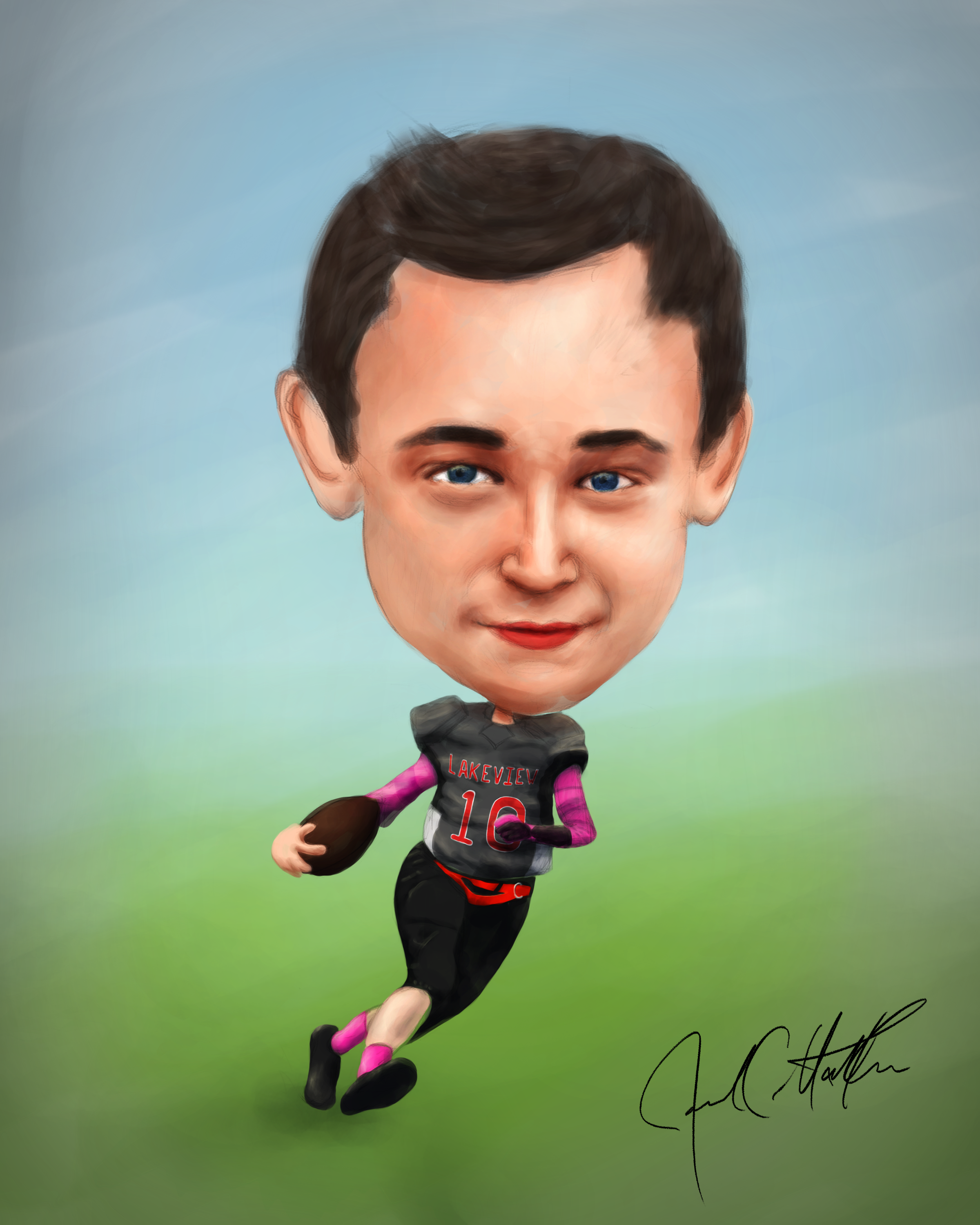 Football Player Caricature