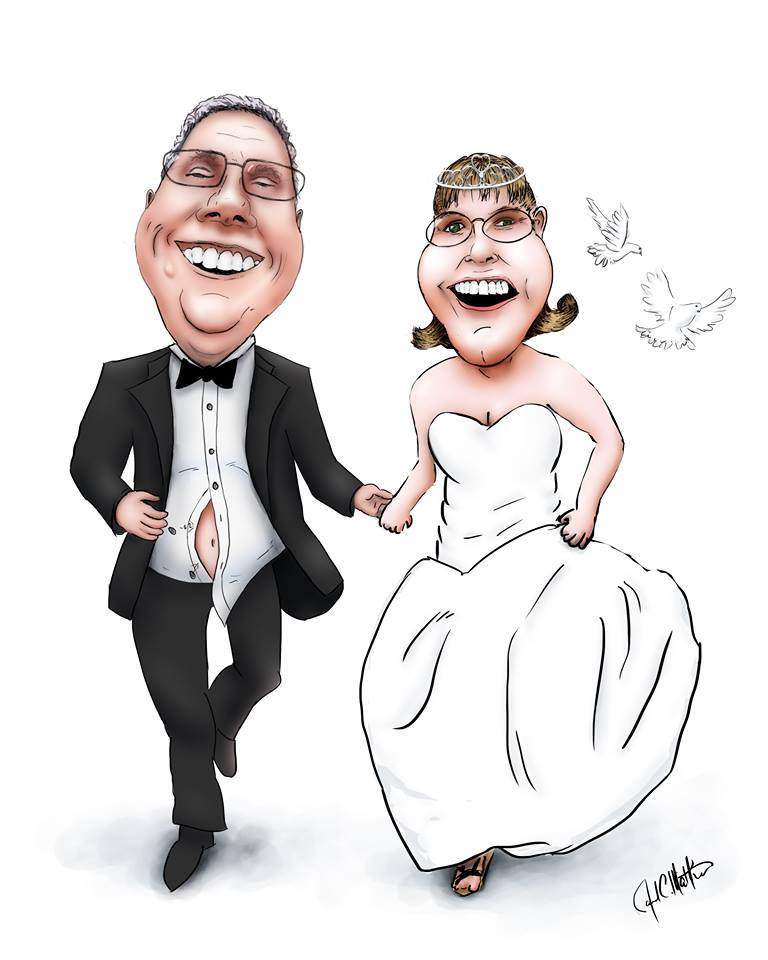 Bride and Groom Caricature