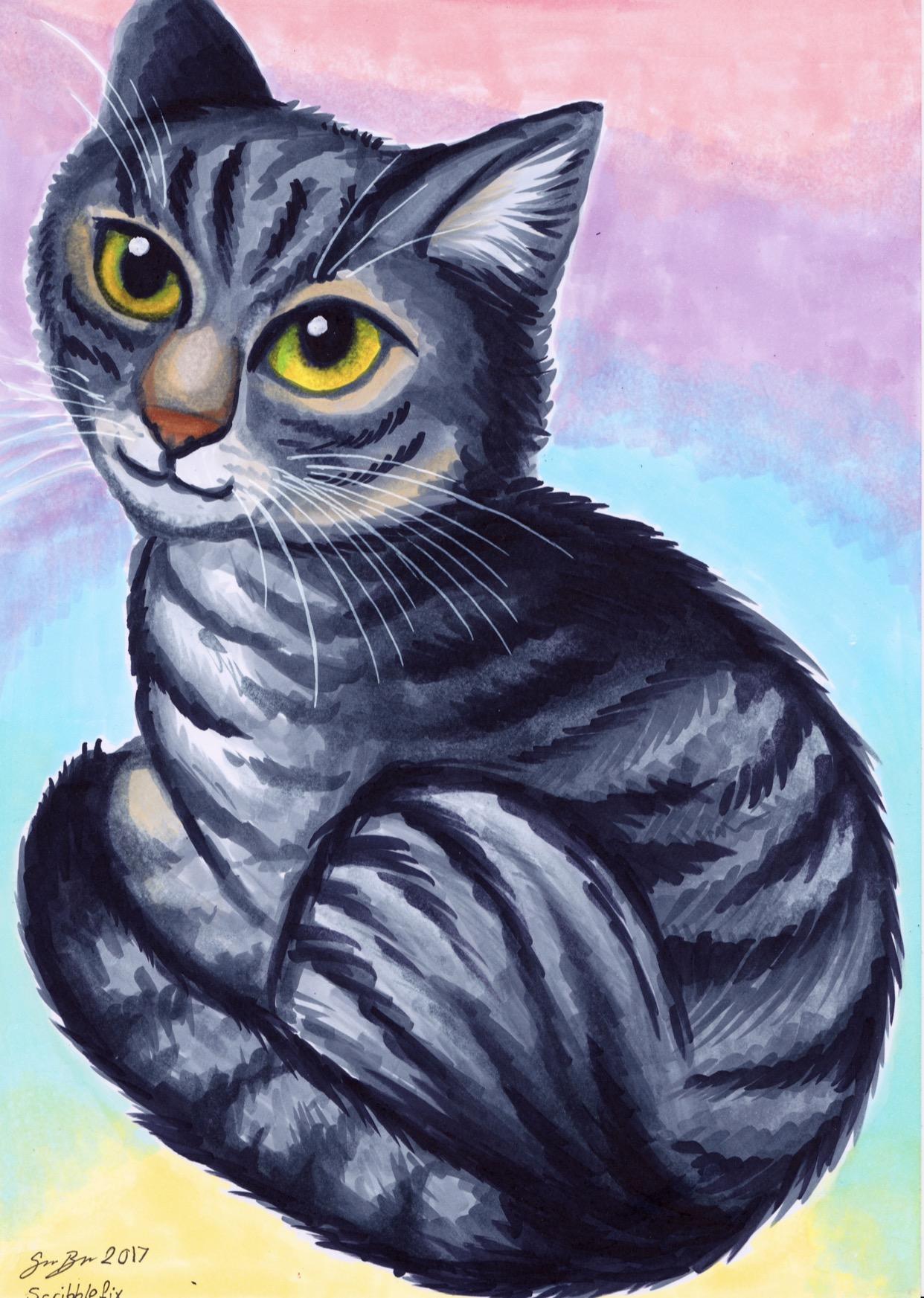 Eevee the cat - pet portrait
