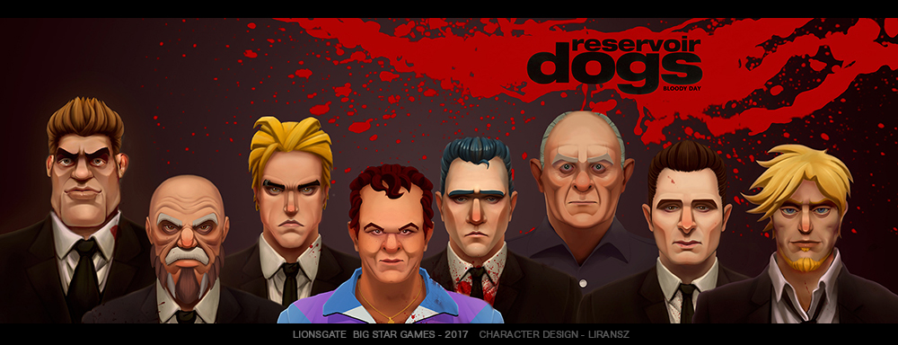 Character design for Reservoir Dogs: Bloody days