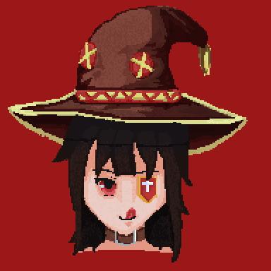 Megumin arch wizard pixel art