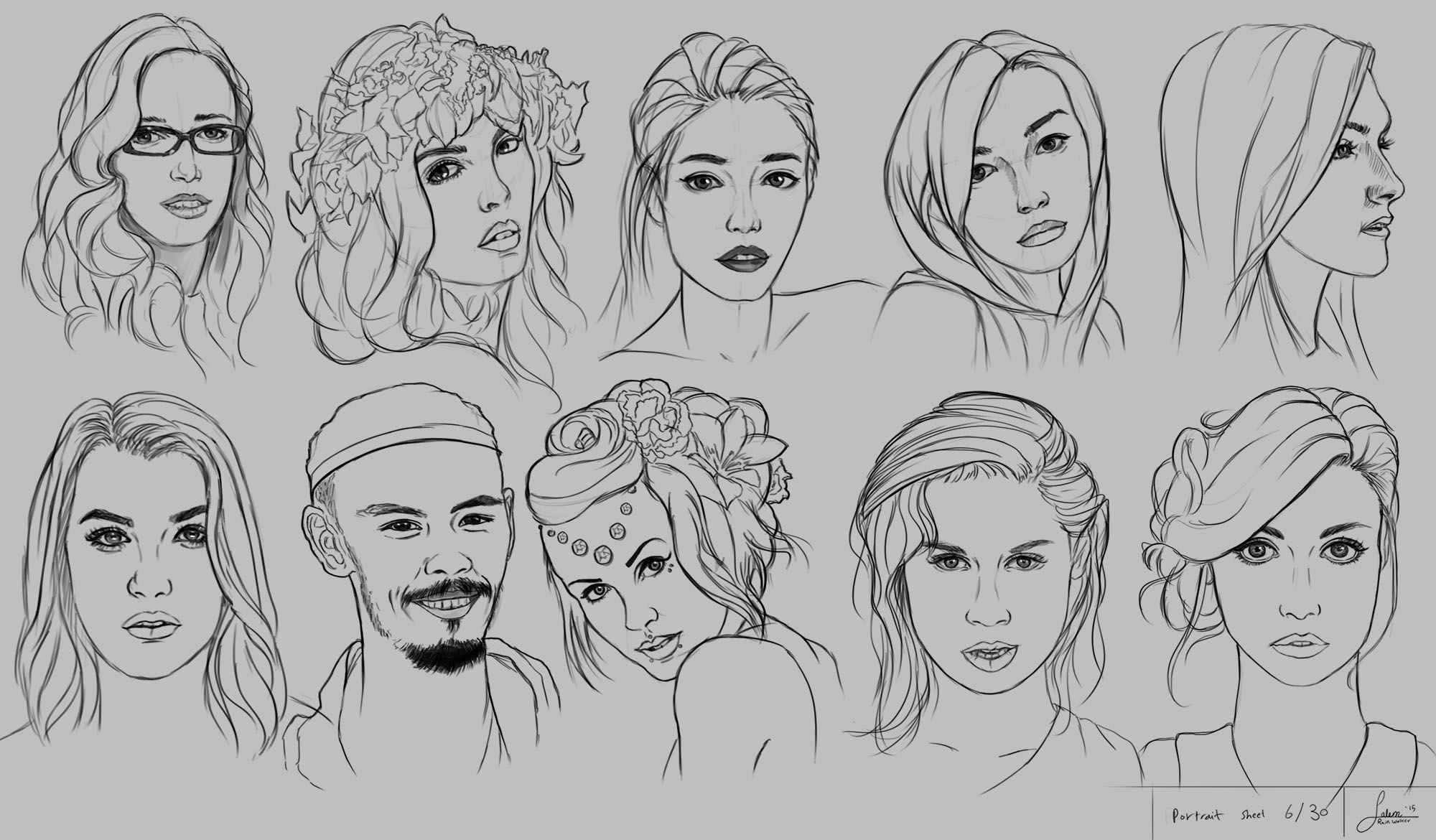 Portrait Drawng - Practice Sheet no. 6/30
