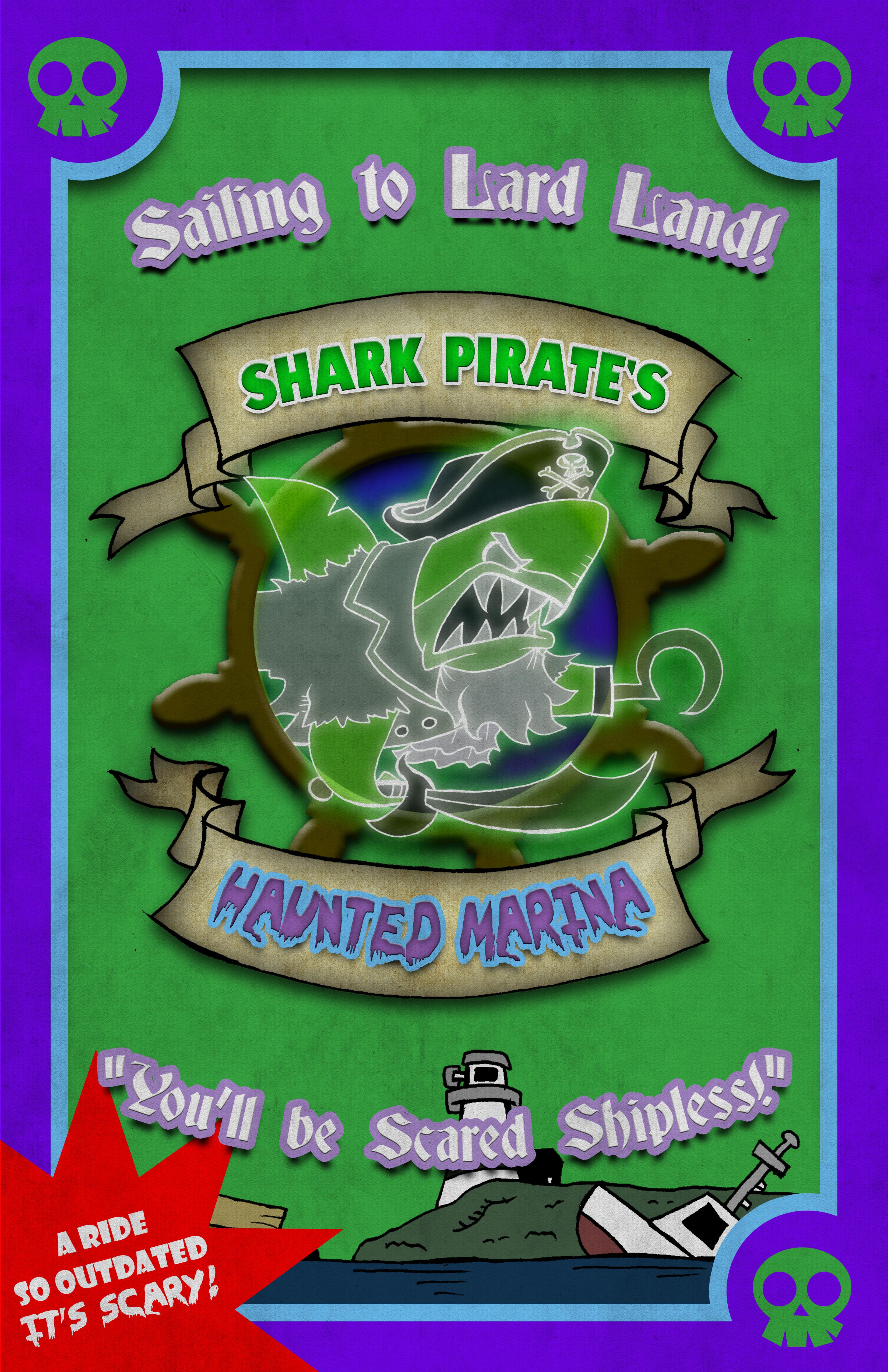 Shark Pirate's Haunted Marina Poster