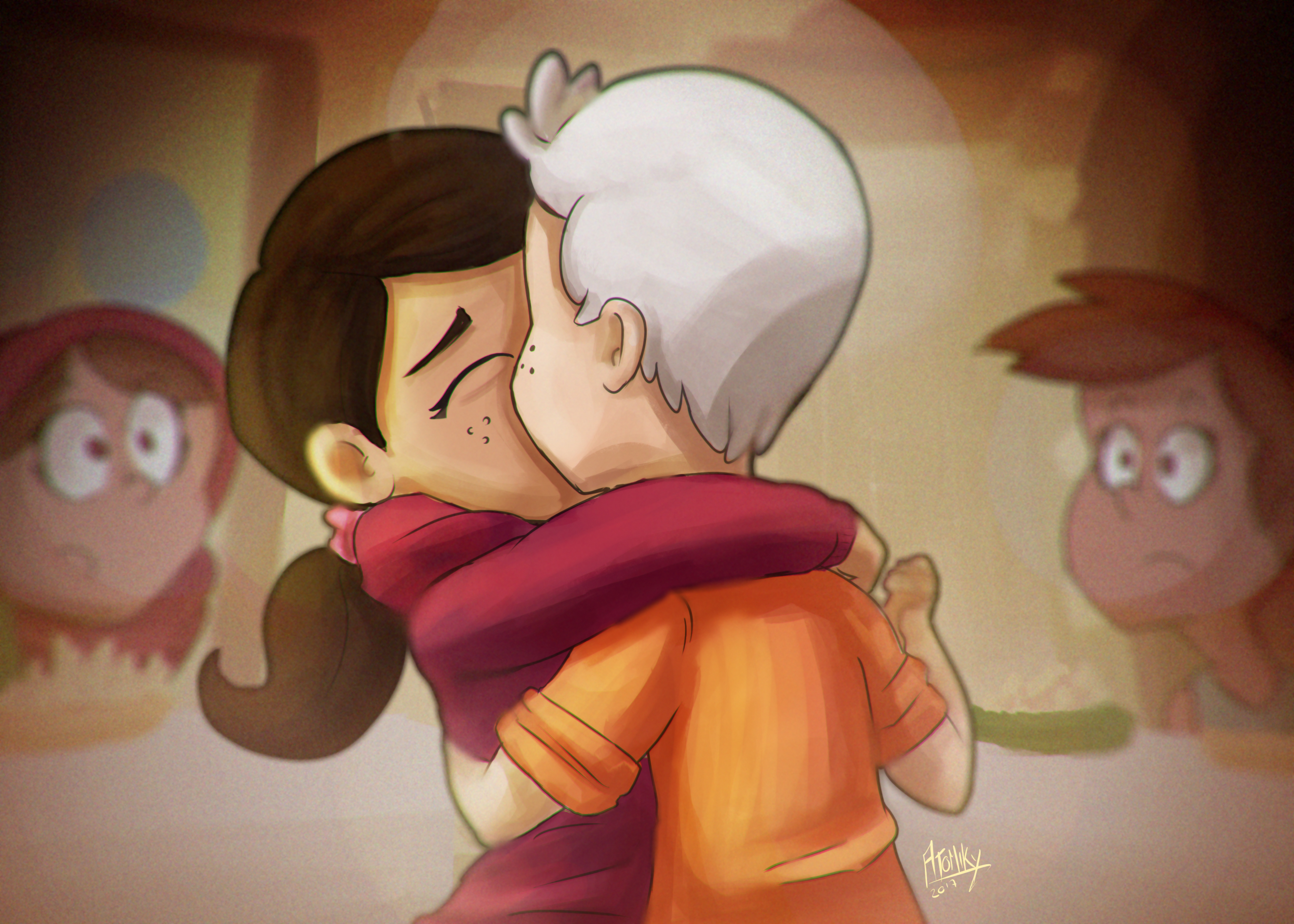 first kiss in royal woods