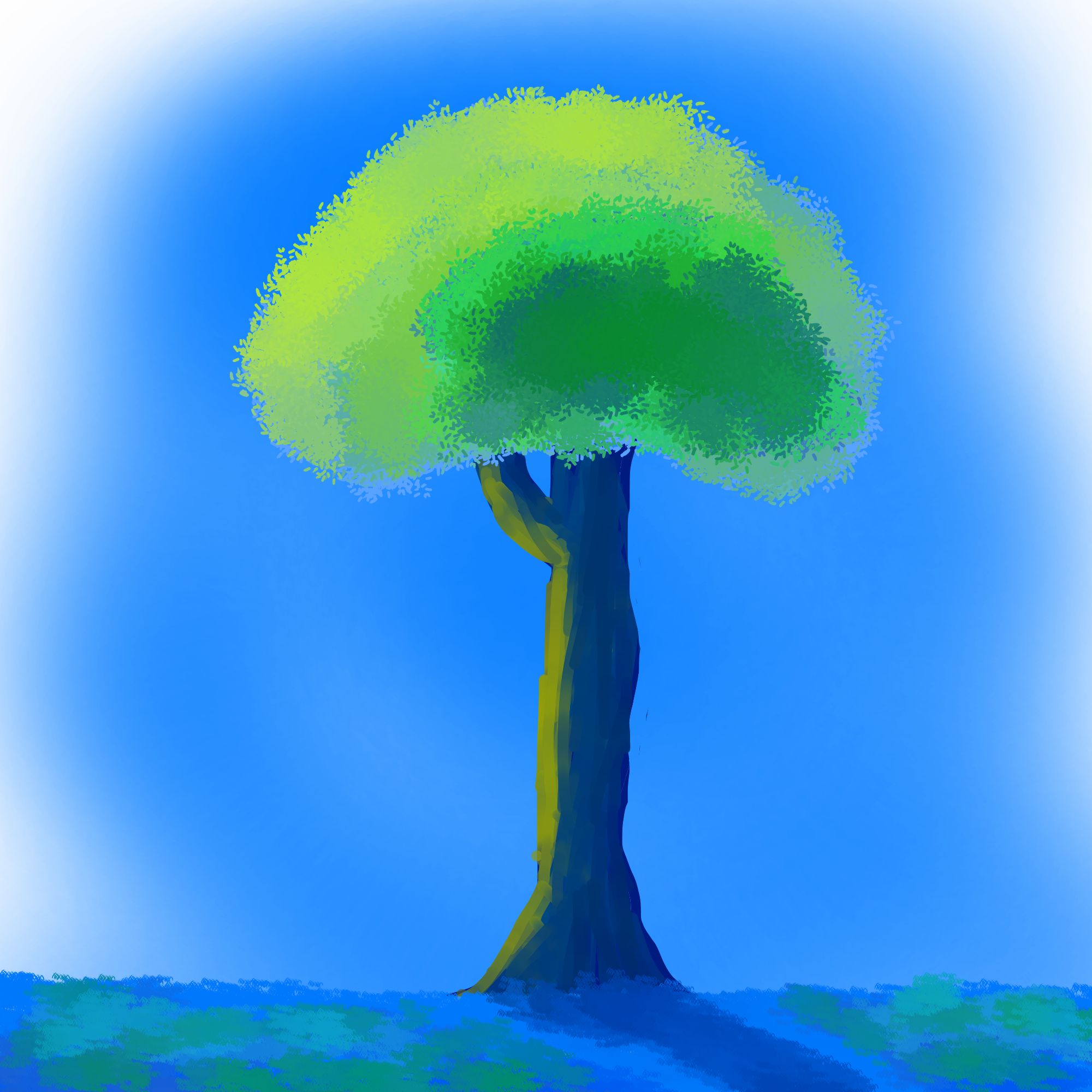Anime style tree