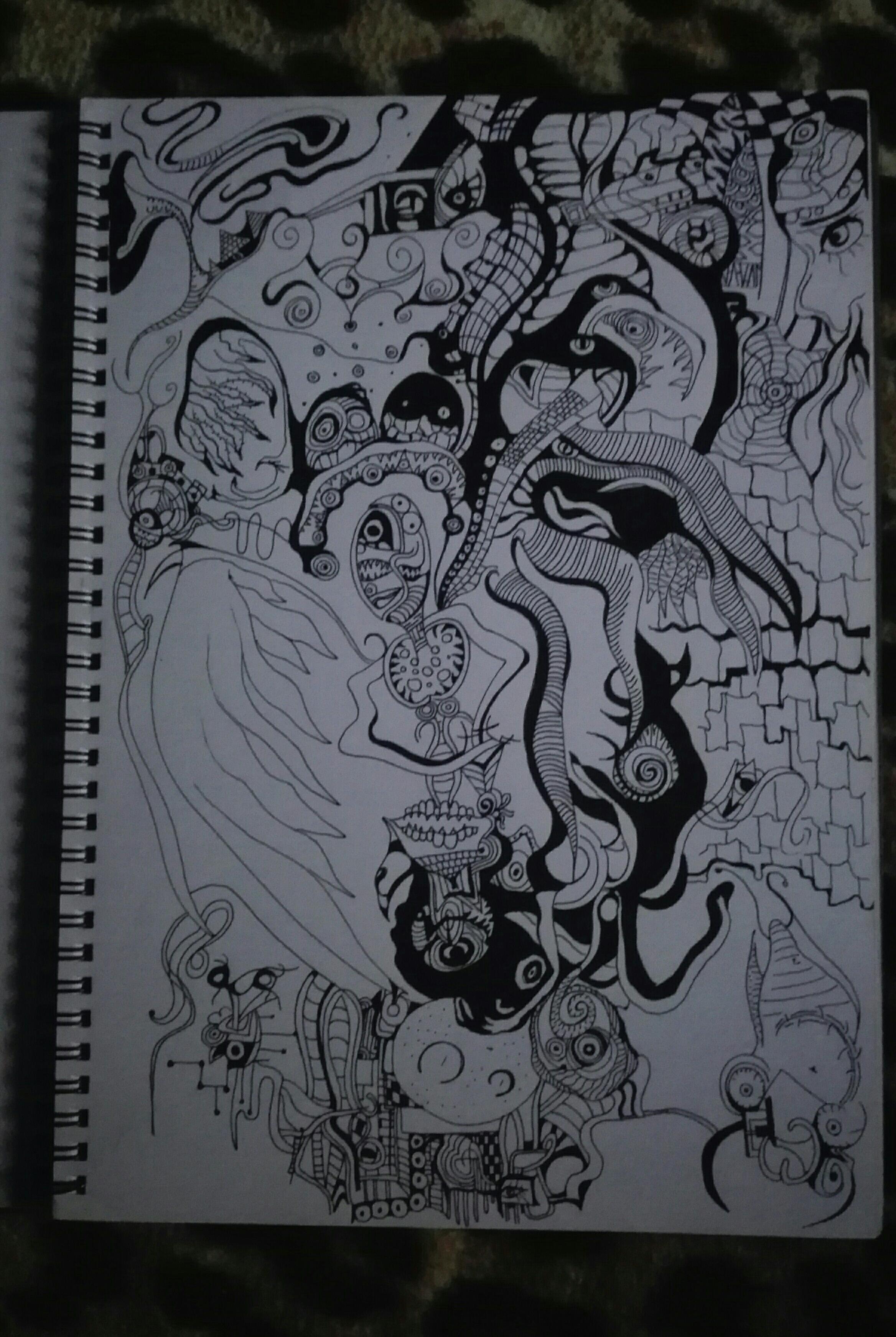 Black ink wings
