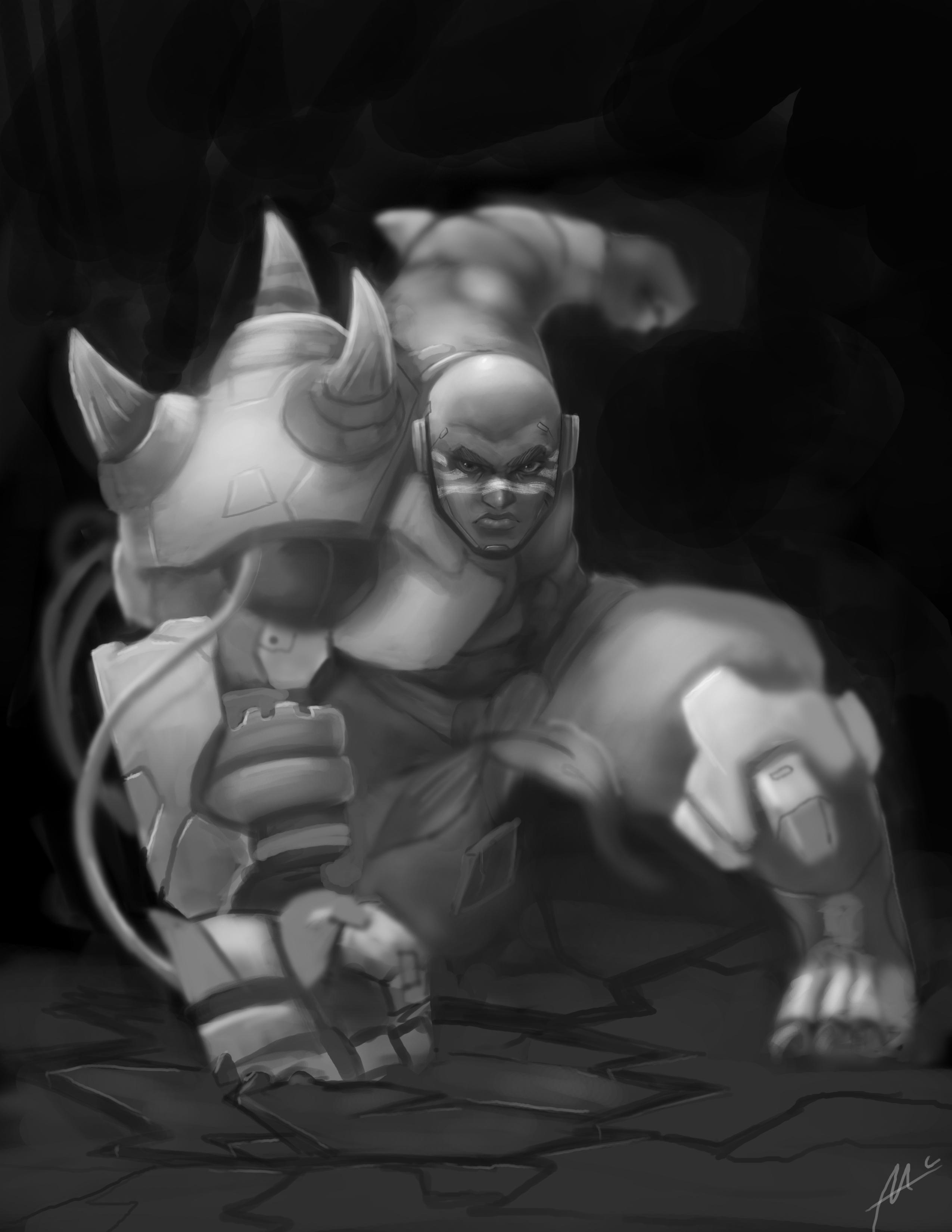 Doomfist Grayscale