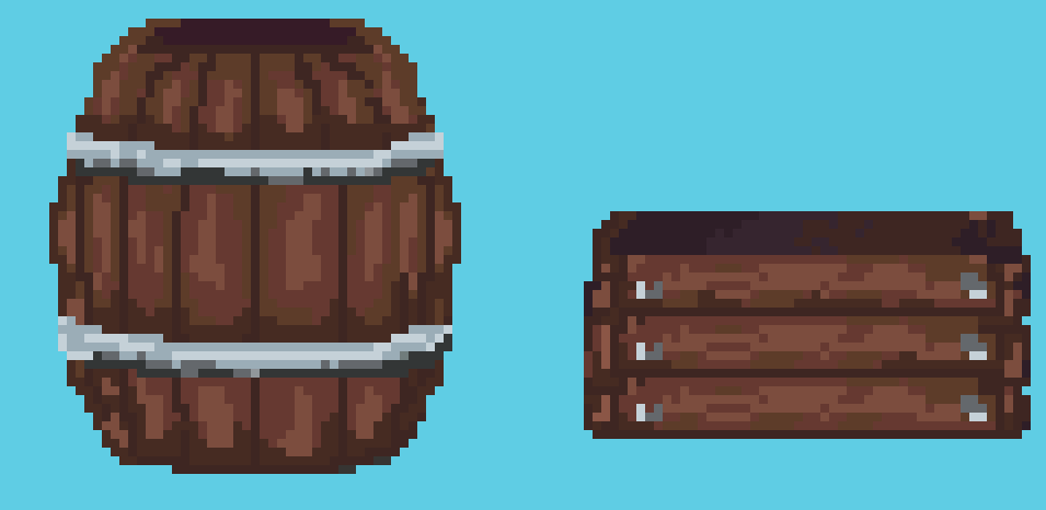 Barrel and a box