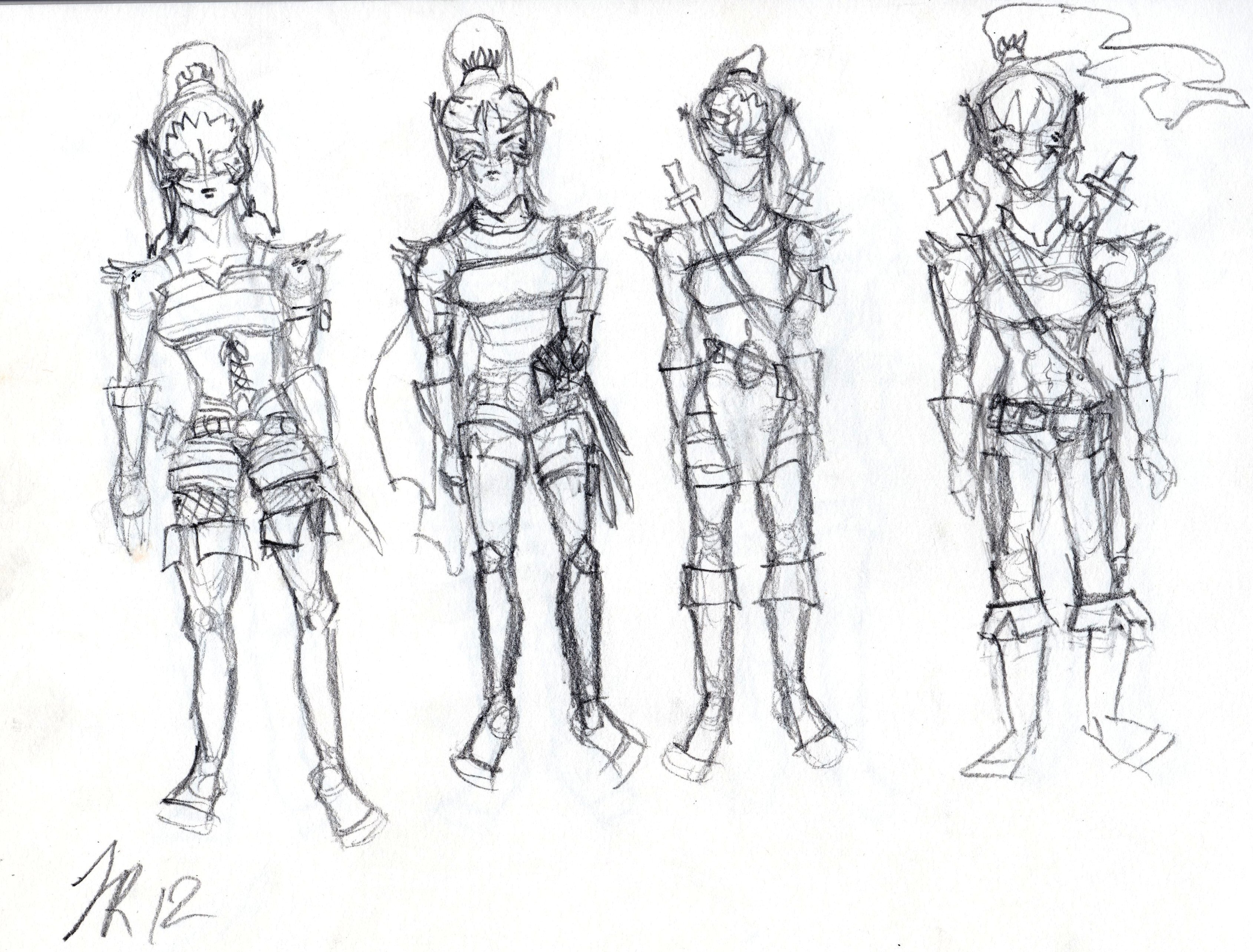 Lynxanna Outfit Sketches