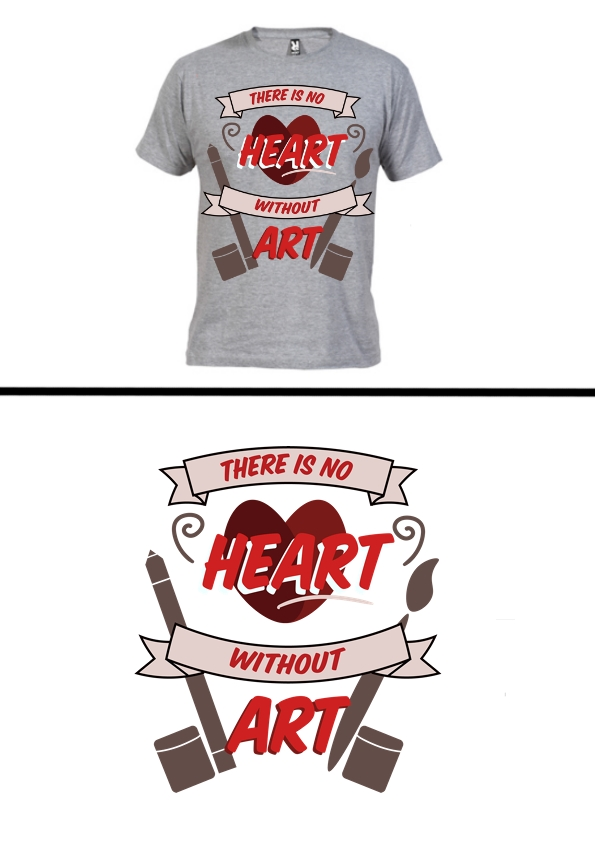 "T-Shirt Design #2 ""No Heart Without Art"""