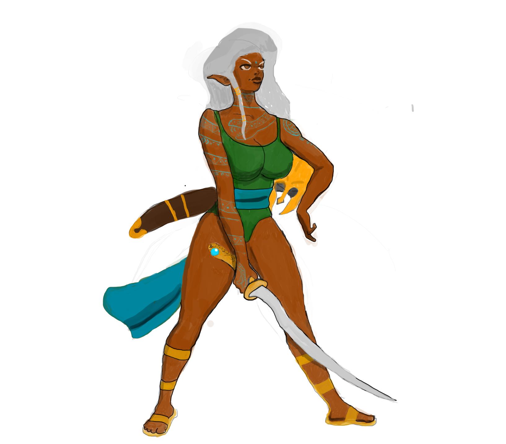 nameless warrior girl