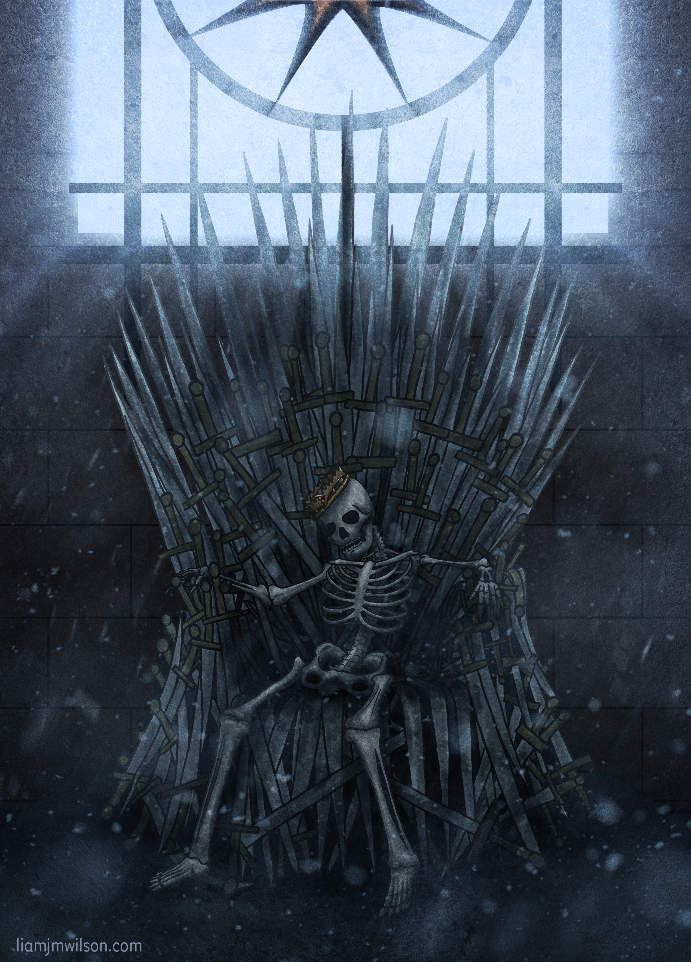 Skeleton on the Iron Throne