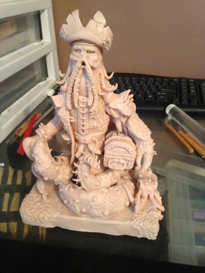 Davy Jones Sculpture Super Sculpey Art