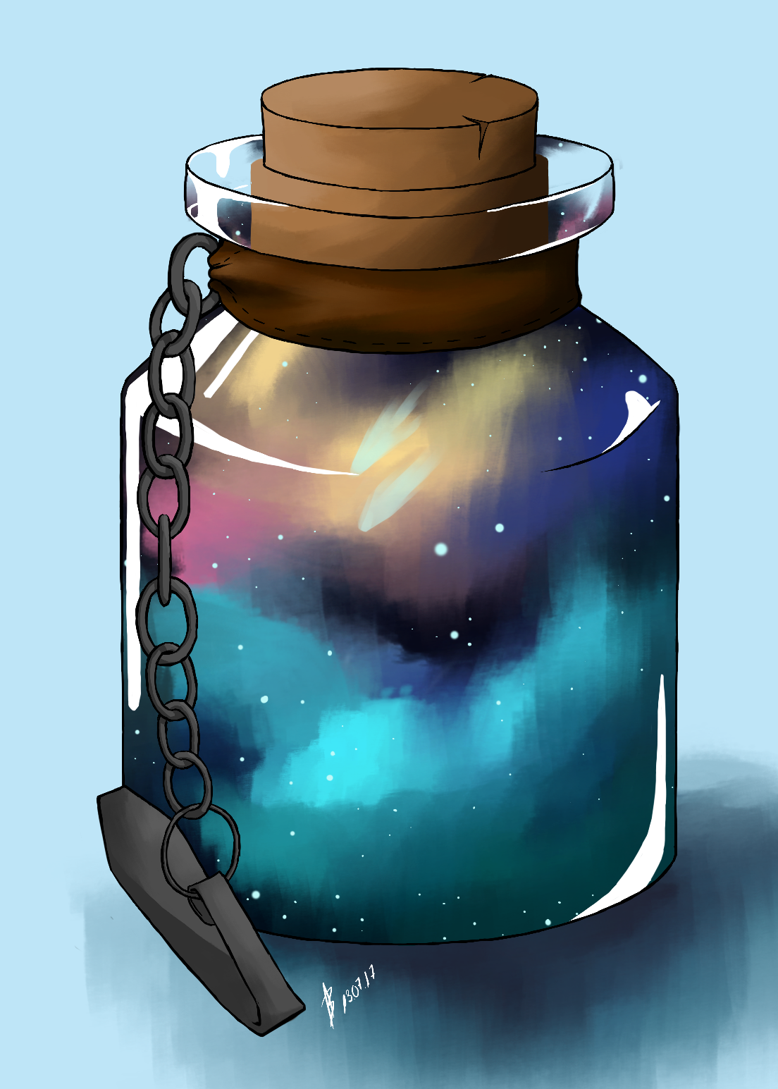 Commission: Galaxy in a Bottle
