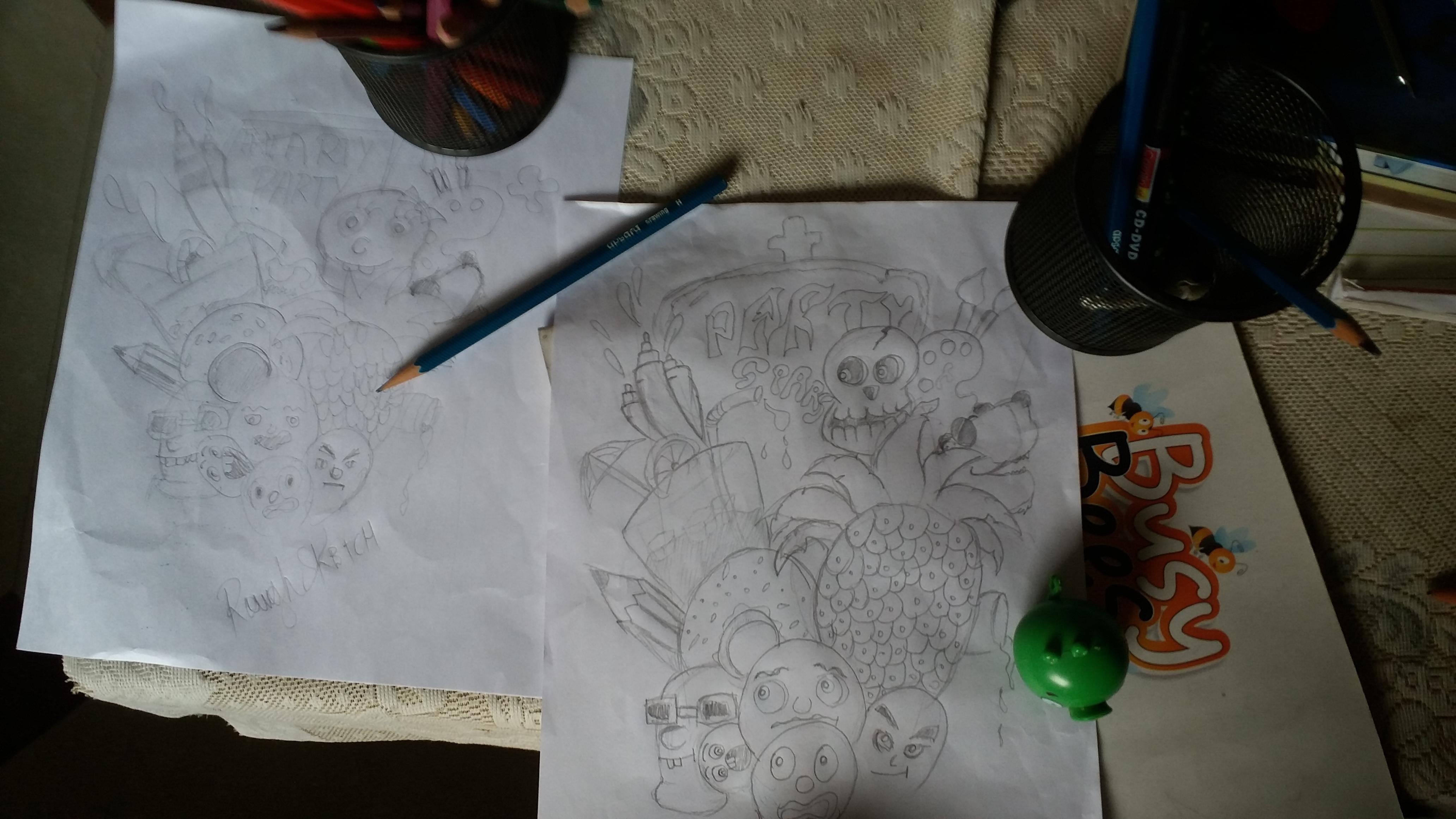 MID PROCESS OF COTM ARTYSHIRT