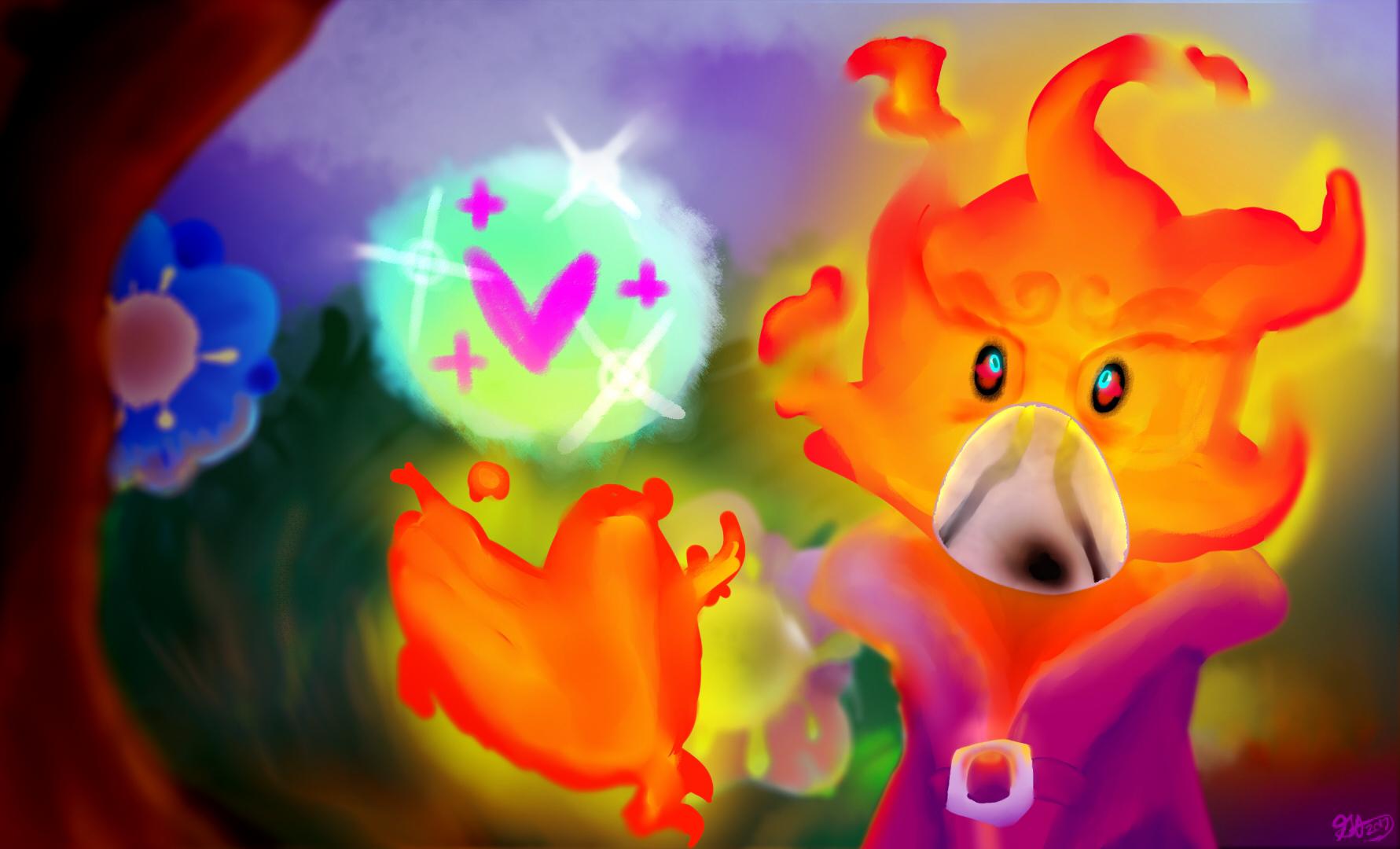 A fiery Healer