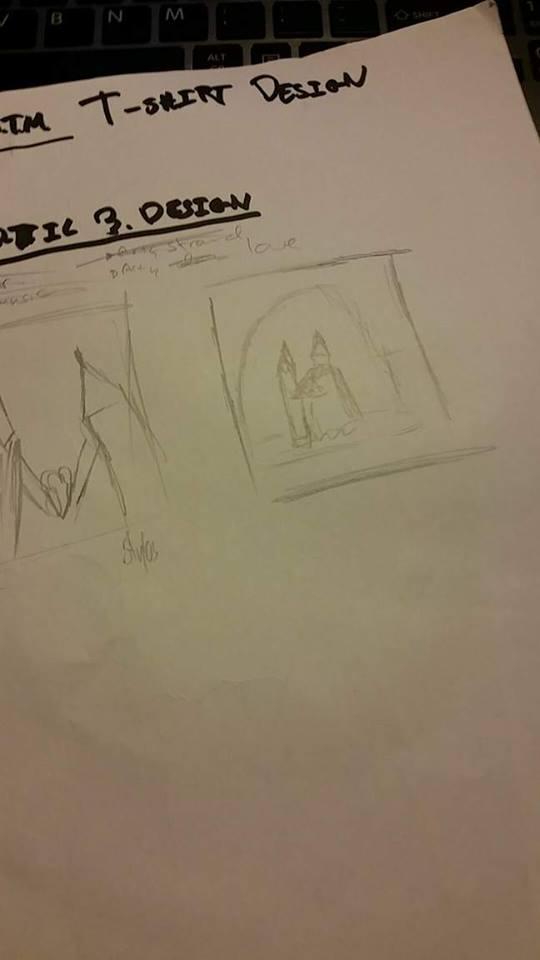 Behind picture: Pencil n stylos wedding
