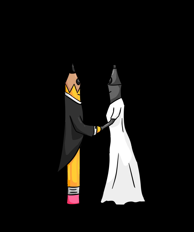 Pencil and Stylos wedding
