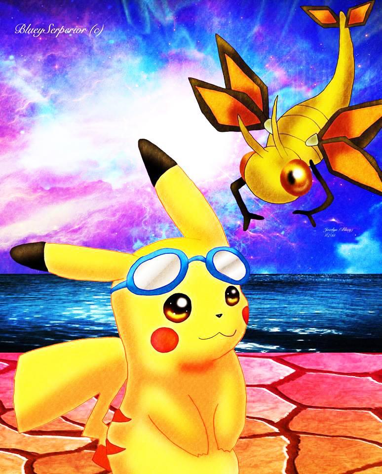 Pikachu and Vibrava