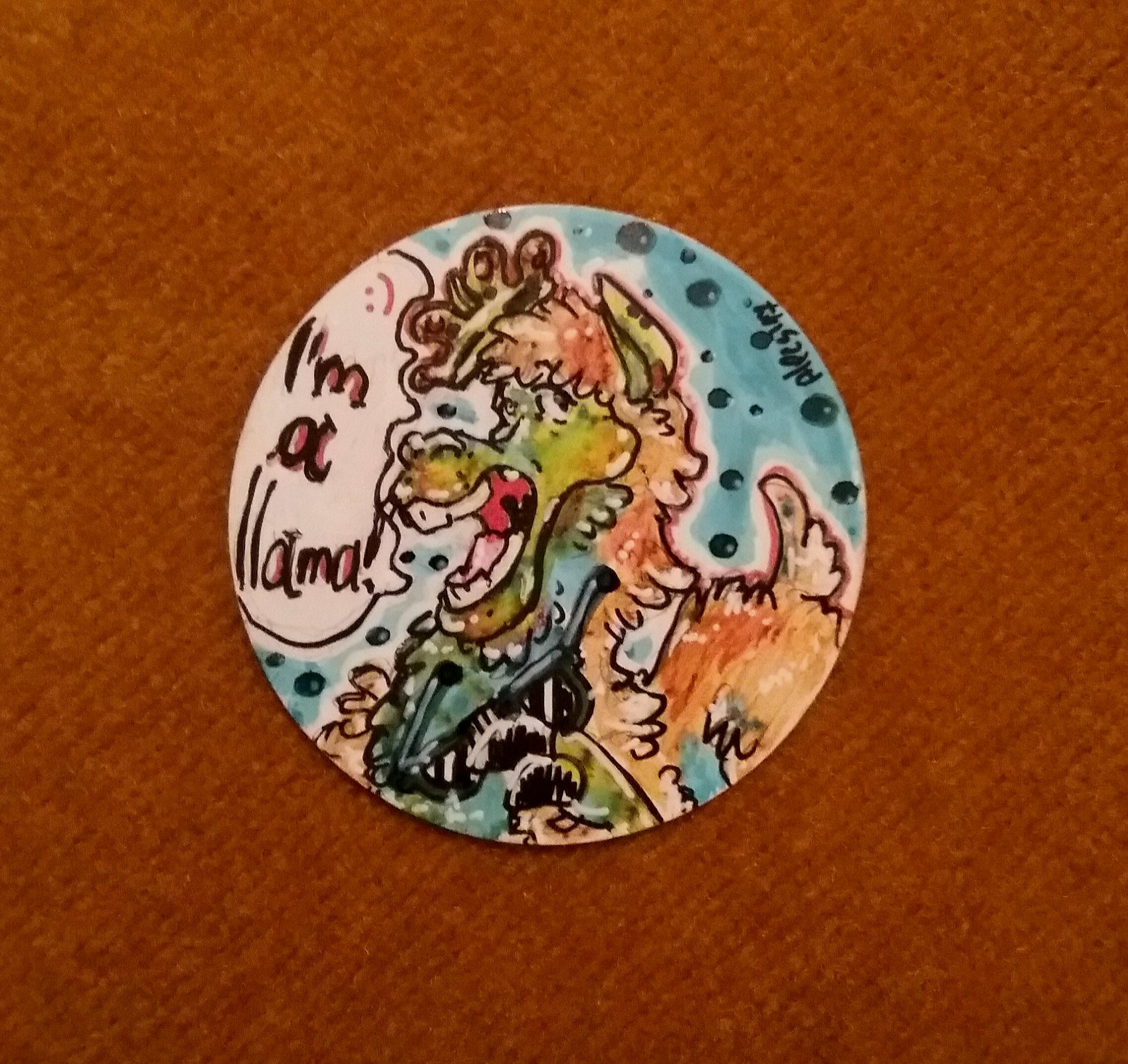 Llama king!-Art trade