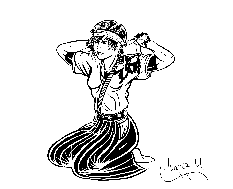 Asuka Kazama Tekken 5 alt costume inked