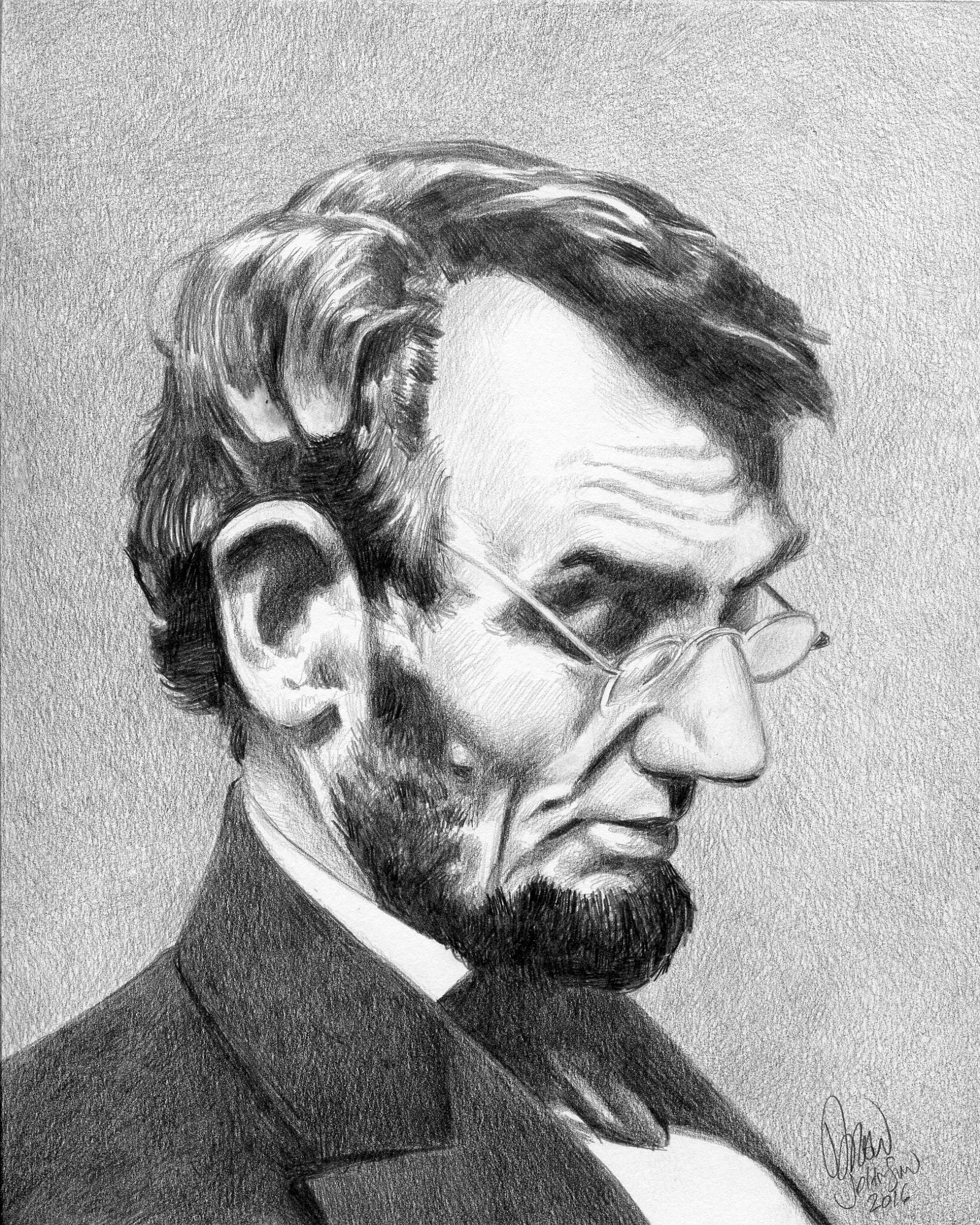 Abraham Lincoln reading