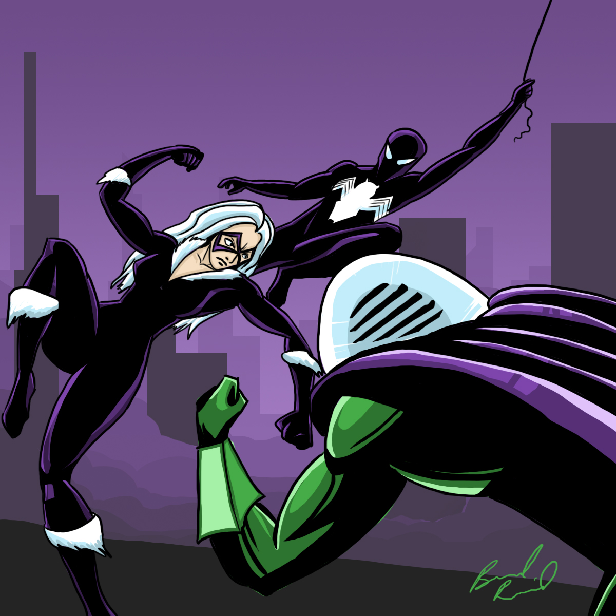 Spider-Man x Black-Cat vs. Mysterio