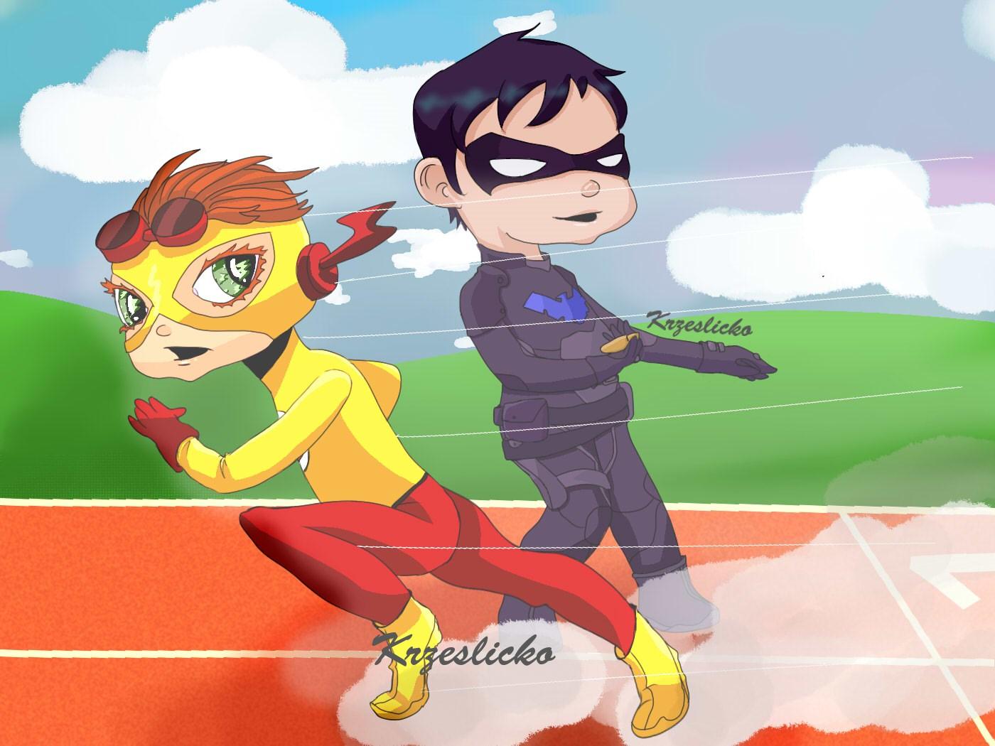 Kid flash & nightwing