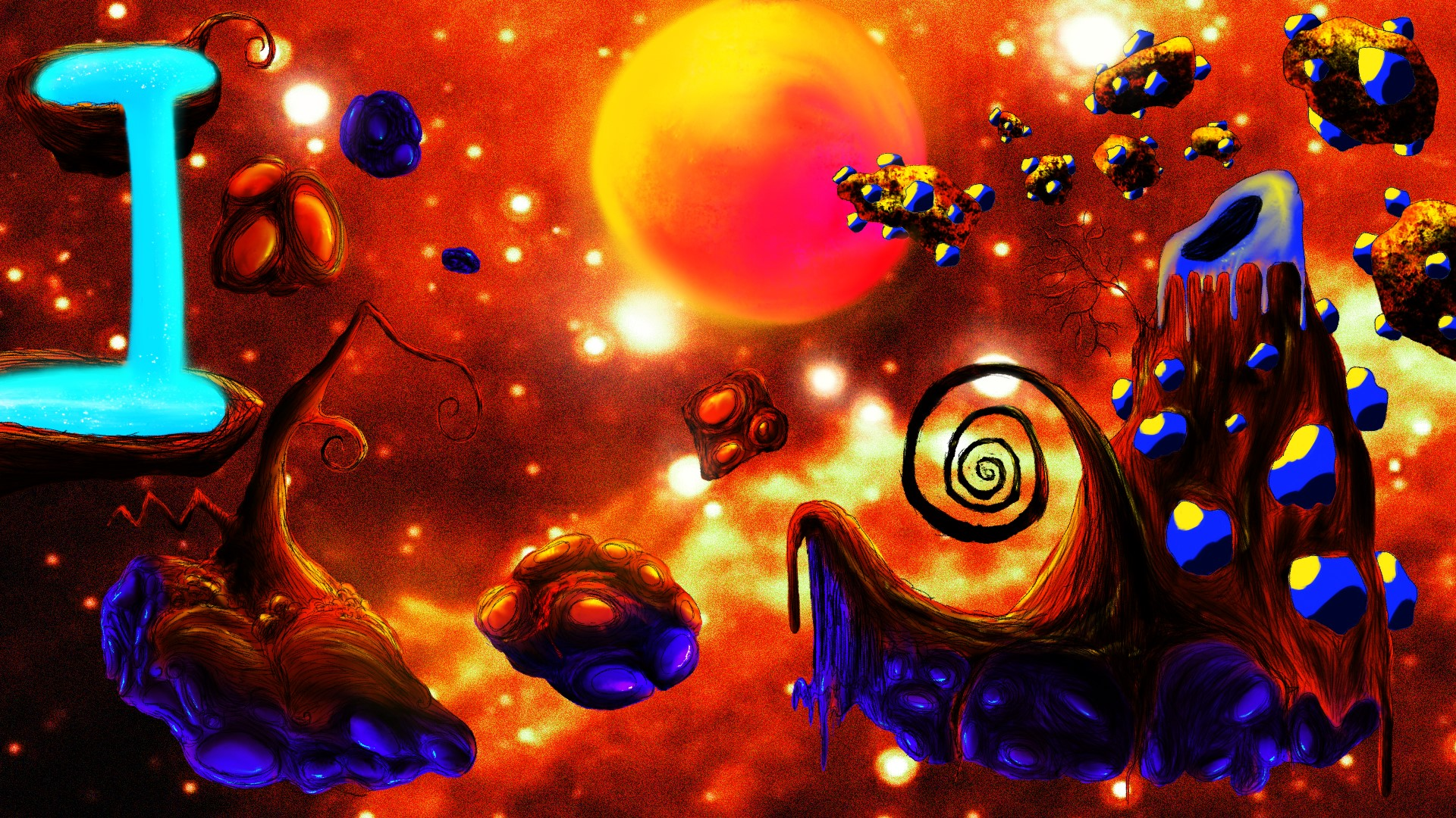 Tangerine Asteroids